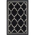 Safavieh Amherst Indoor/ Outdoor Anthracite/ Ivory Rug (2'6 x 4')