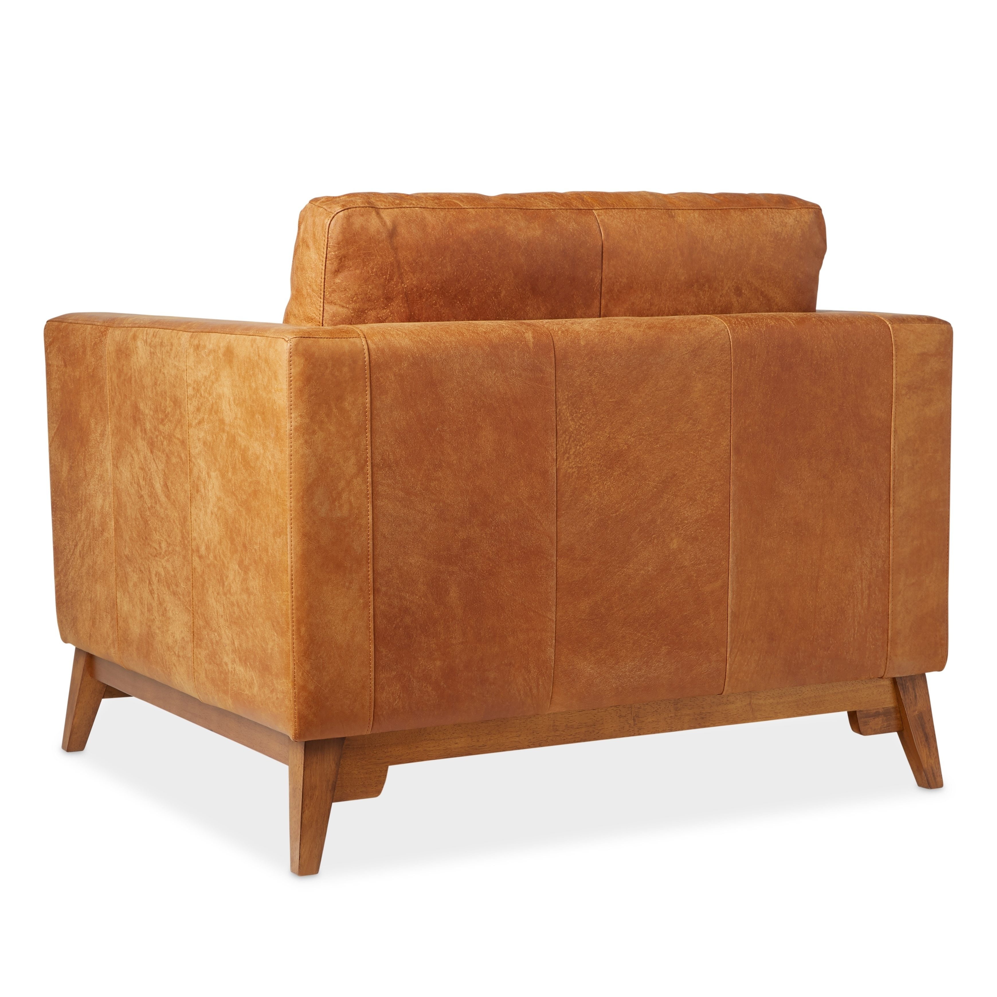 Shop Strick U0026 Bolton Filmore Oversized Tan Italian Leather Club Chair   On  Sale   Free Shipping Today   Overstock   8840196