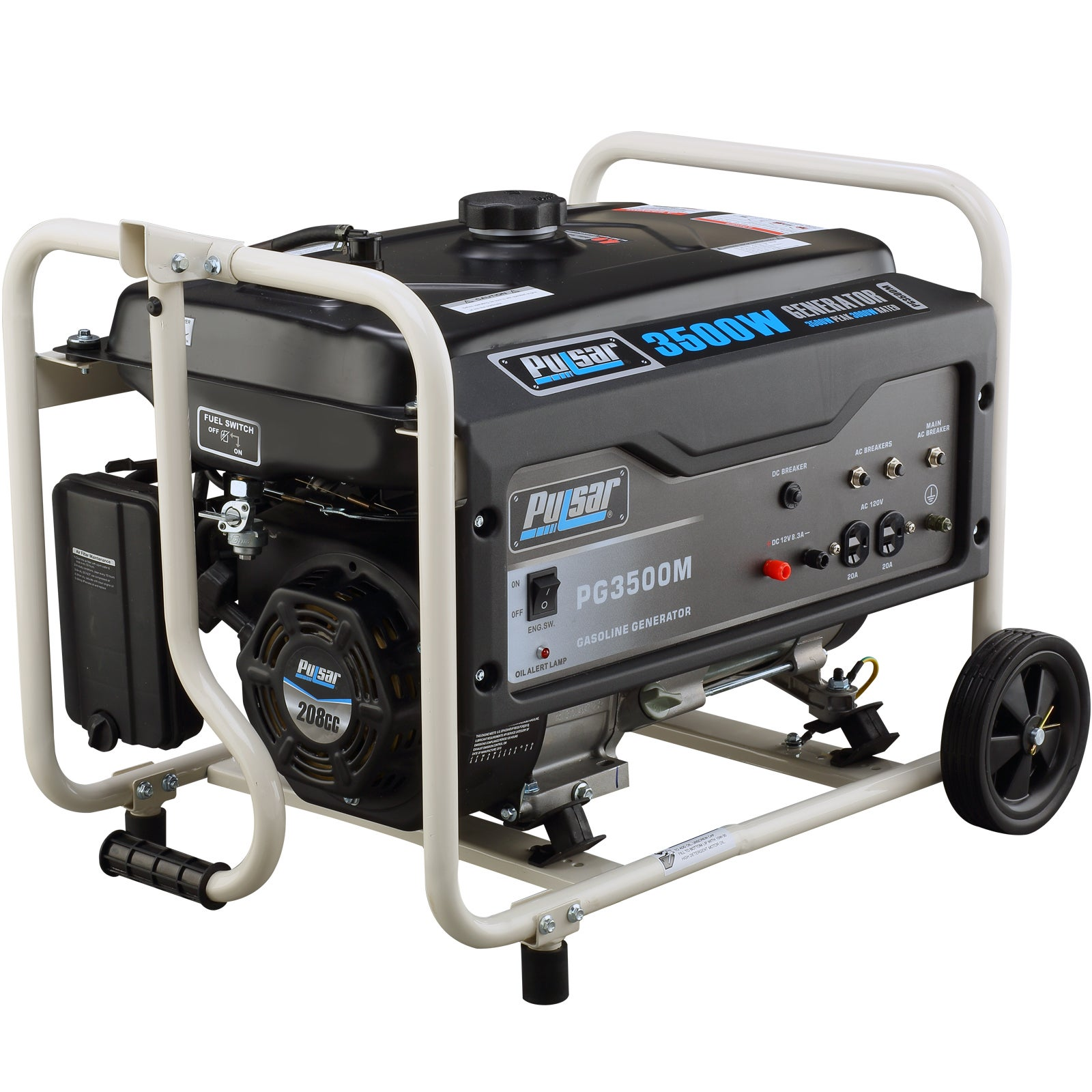 Pulsar Products 3 500 watt Gasoline Powered Portable Generator