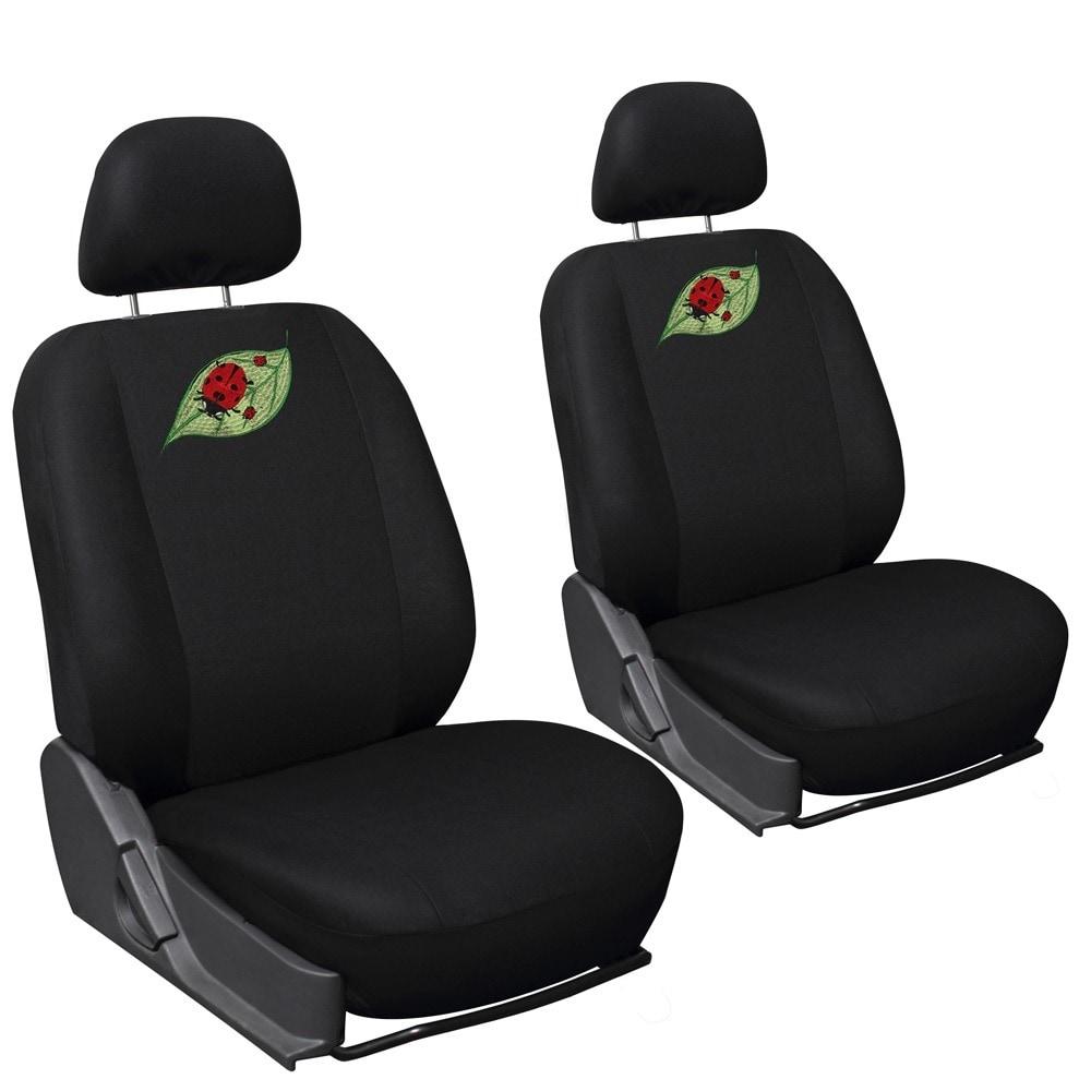 Shop Oxgord Cute Green Leaf Red Ladybug 6 Piece Seat Cover Set