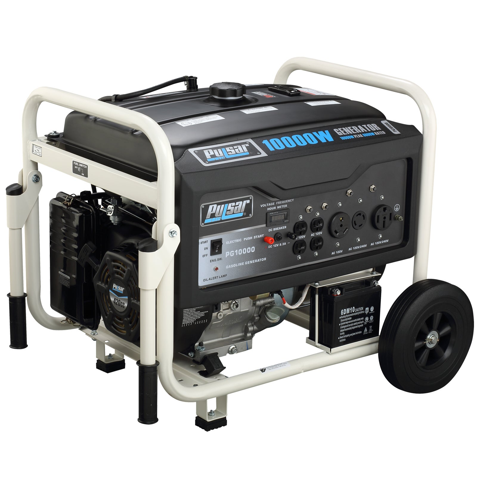 Pulsar Products 10 000 watt Gasoline Powered Portable Generator