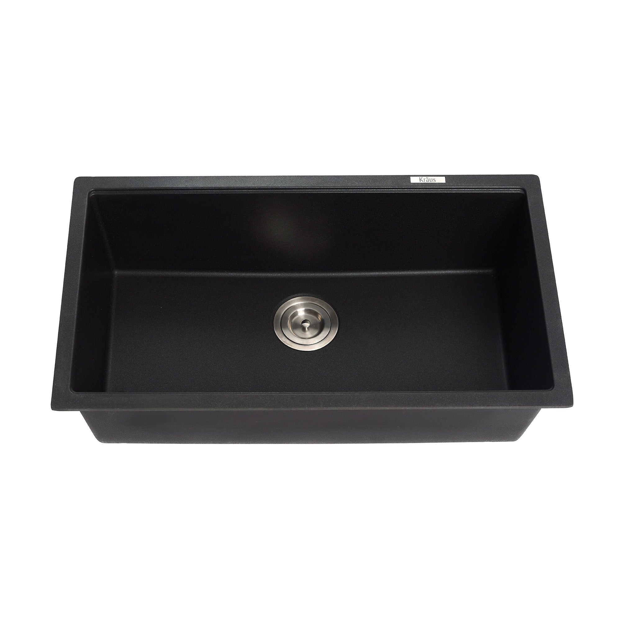 Shop Kraus Kgu 413b Undermount  Bowl Granite Kitchen Sink Black Onyx Strainer Towel Free Shipping Today Overstock 8844063