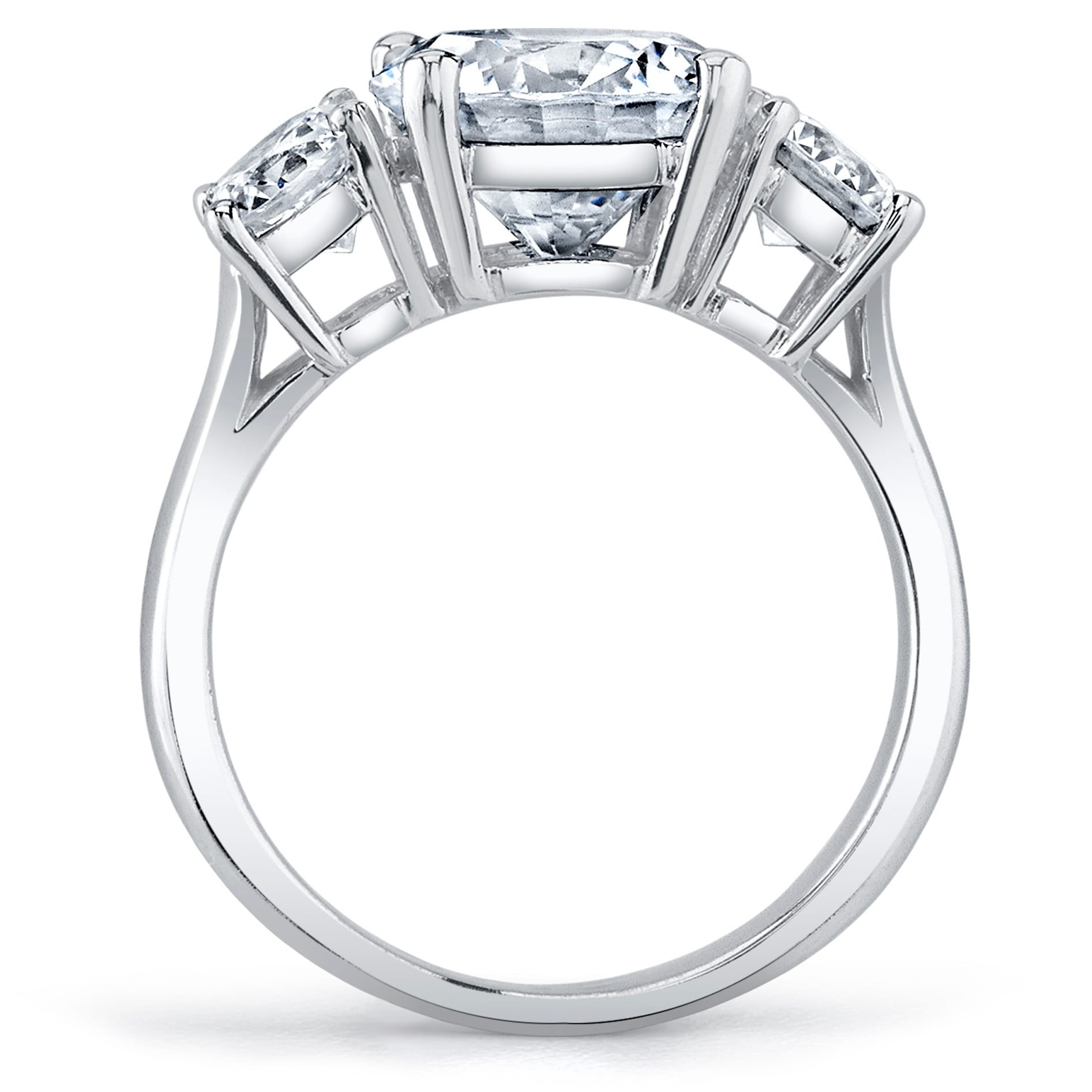 Platinum Certified 3 1/2ct TDW Round-cut Diamond Ring - Free ...