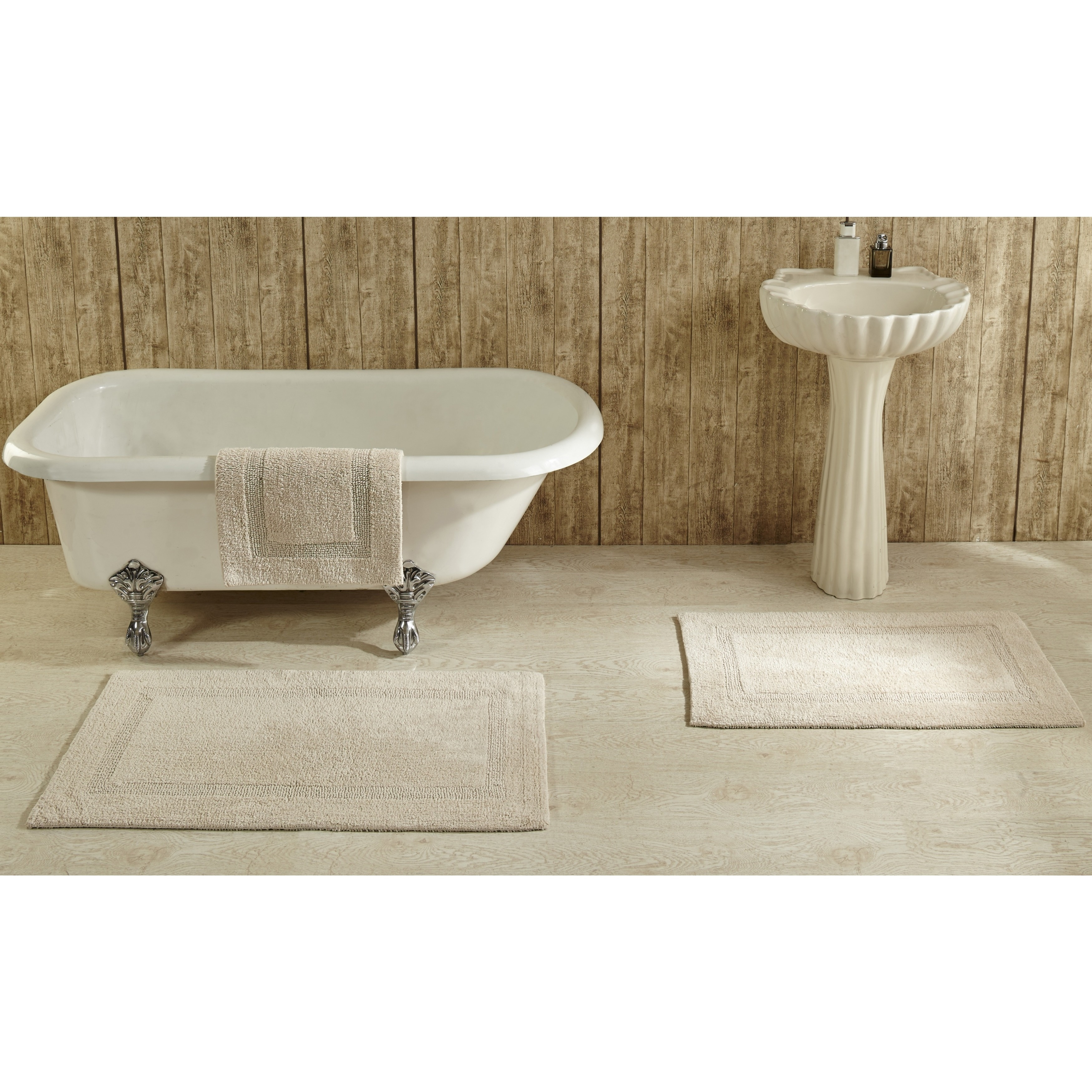 Lux 100-percent Cotton Tufted Reversible Rug or Bath Mat by Better ...