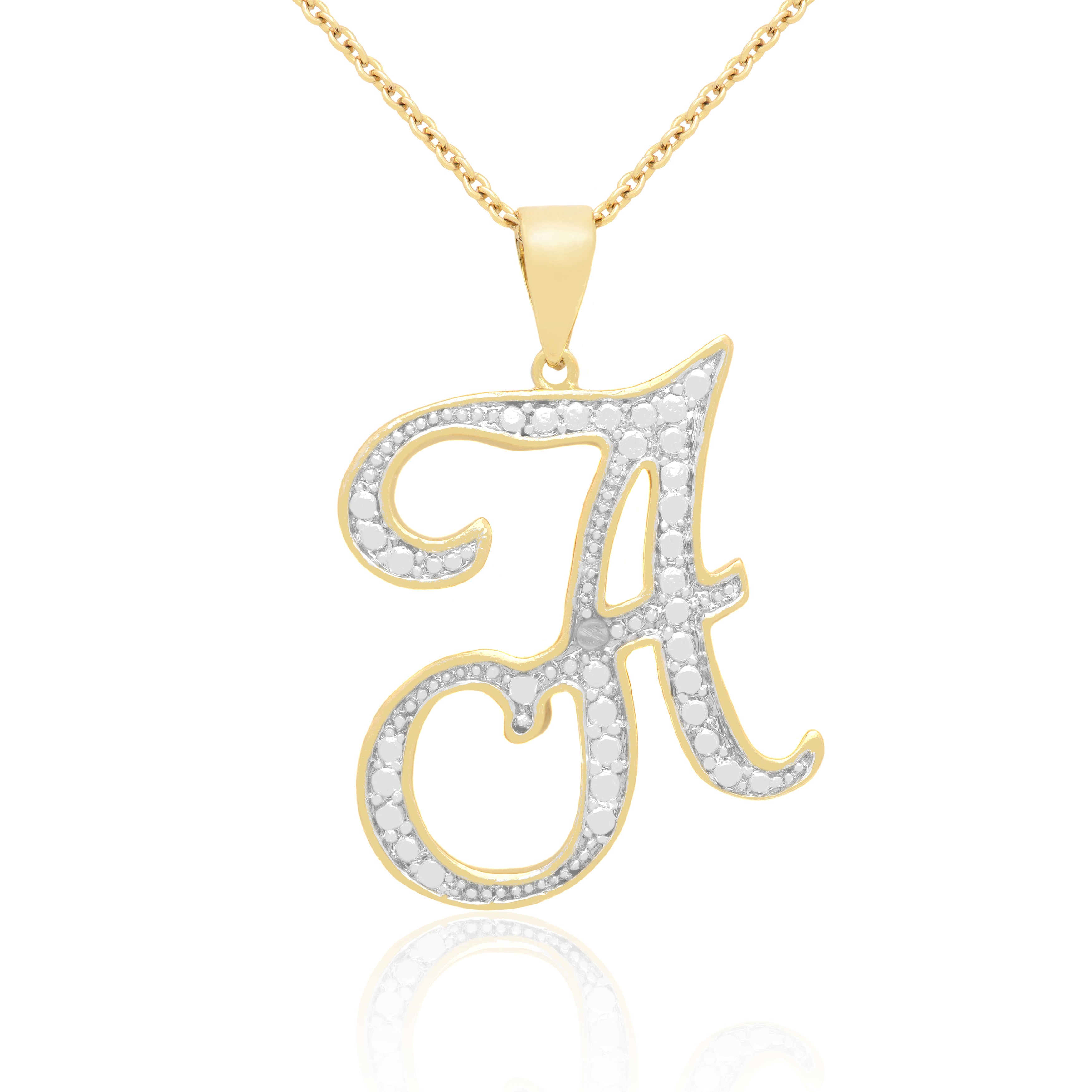 14k Gold Initial Pendant Necklace 14k gold overlay diamond accent initial pendant necklace free 14k gold overlay diamond accent initial pendant necklace free shipping on orders over 45 overstock 16076289 audiocablefo