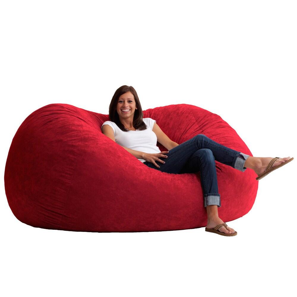 c389ee32a0 Shop Big Joe XL Bean Bag Fuf Chair - Free Shipping Today - Overstock -  8847096