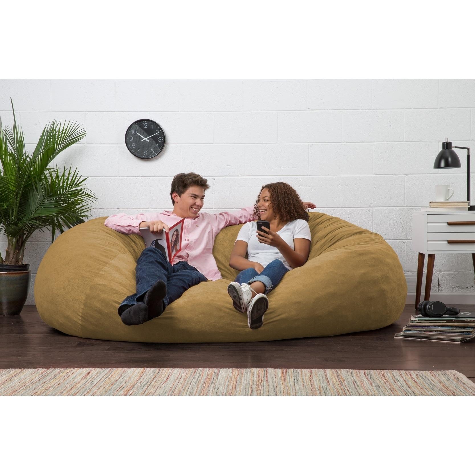 514439f2ba Shop Big Joe XL Bean Bag Fuf Chair - Free Shipping Today - Overstock -  8847096