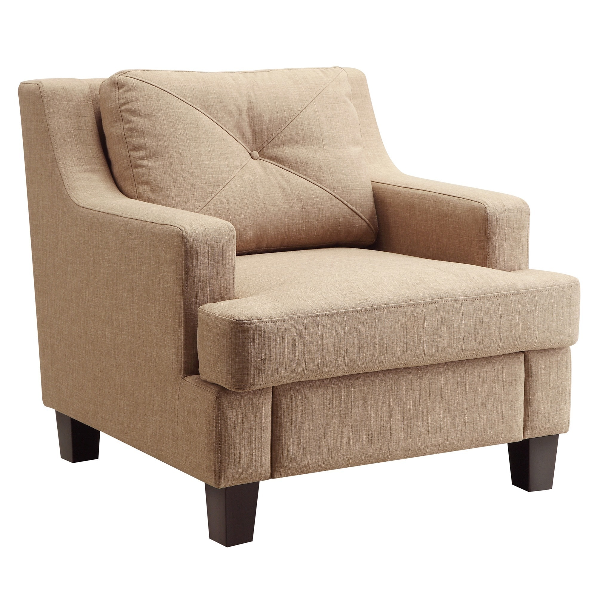 Elston Linen Sloped Track Arm Chair iNSPIRE Q Modern - Free Shipping Today  - Overstock.com - 16076379