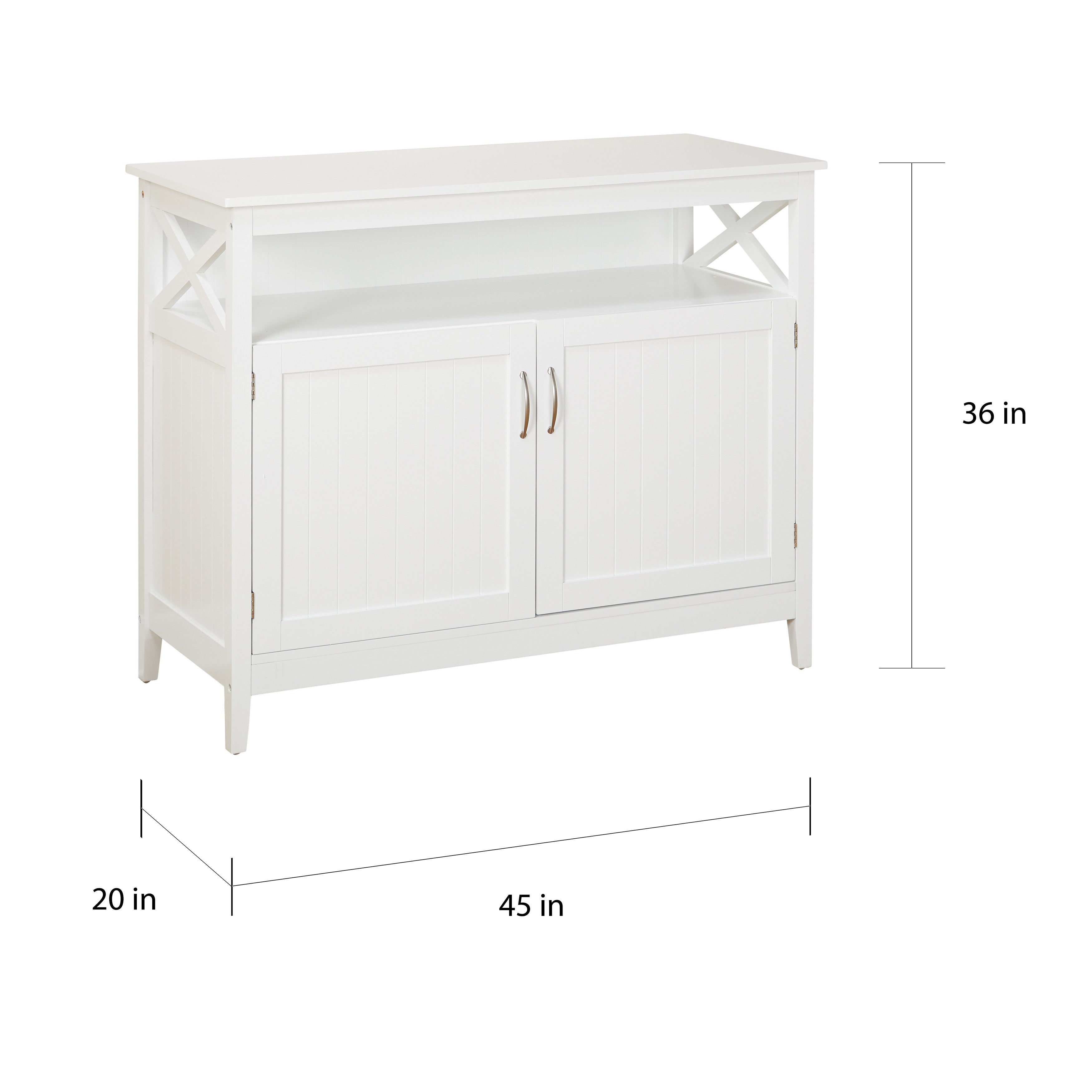 Simple Living Southport White Beadboard Buffet Free Shipping Today 8847157