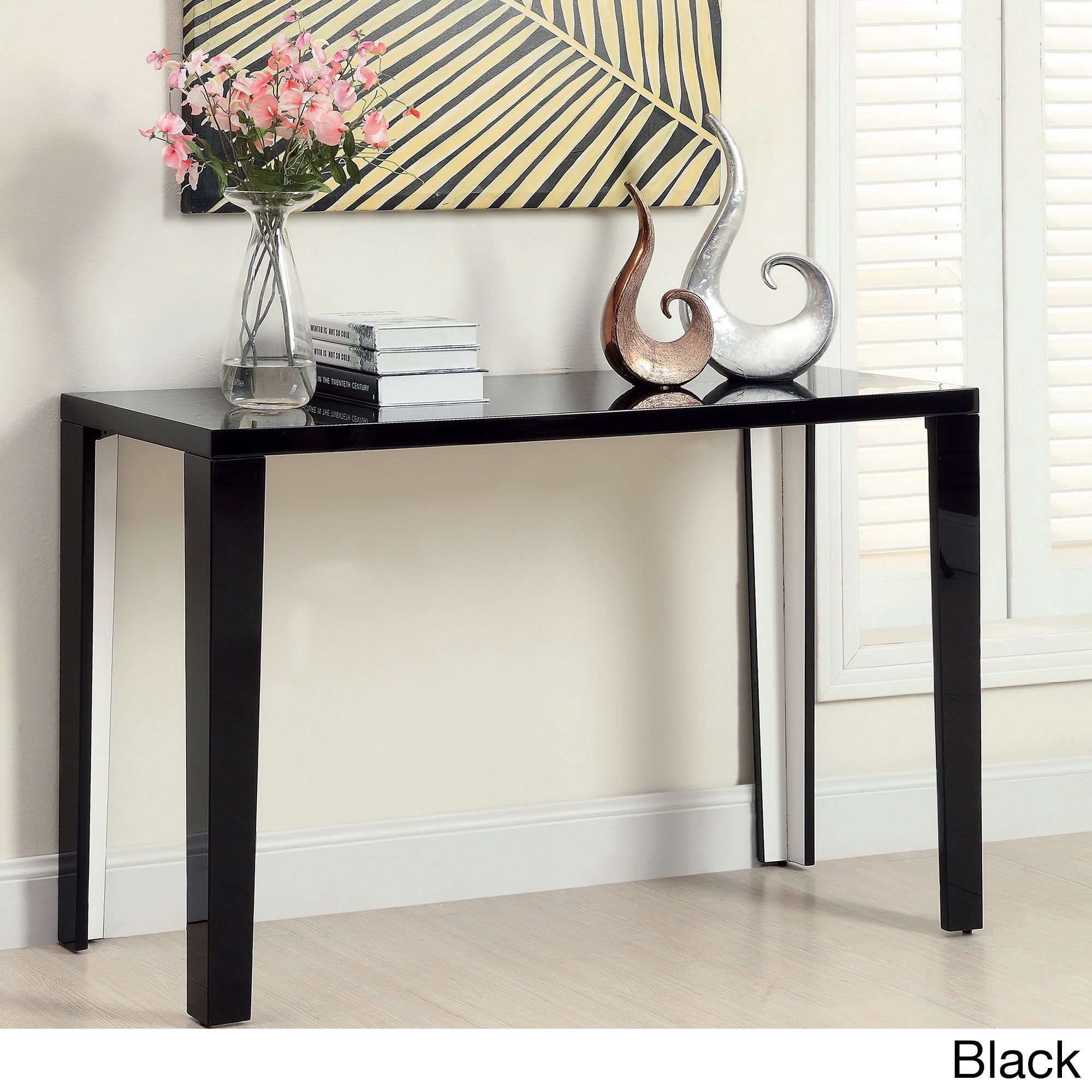 Furniture Of America Lorzi High Gloss Lacquer Sofa Table Free Shipping Today 8847180