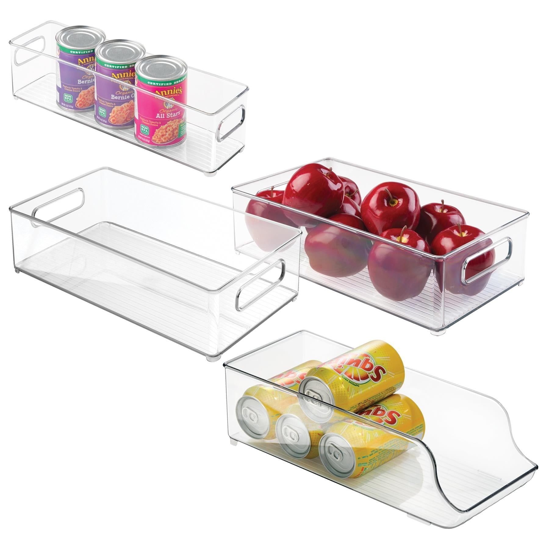 Charming Shop Interdesign 4 Piece Fridge And Freezer Storage Bins   Free Shipping On  Orders Over $45   Overstock.com   8847219