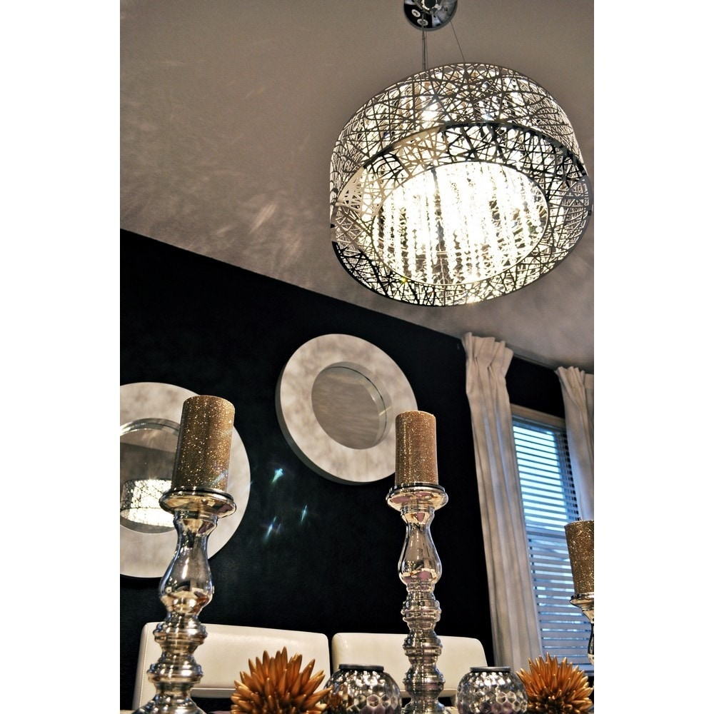 Maxim inca 9 light chrome finish pendant free shipping today maxim inca 9 light chrome finish pendant free shipping today overstock 16076448 mozeypictures Choice Image