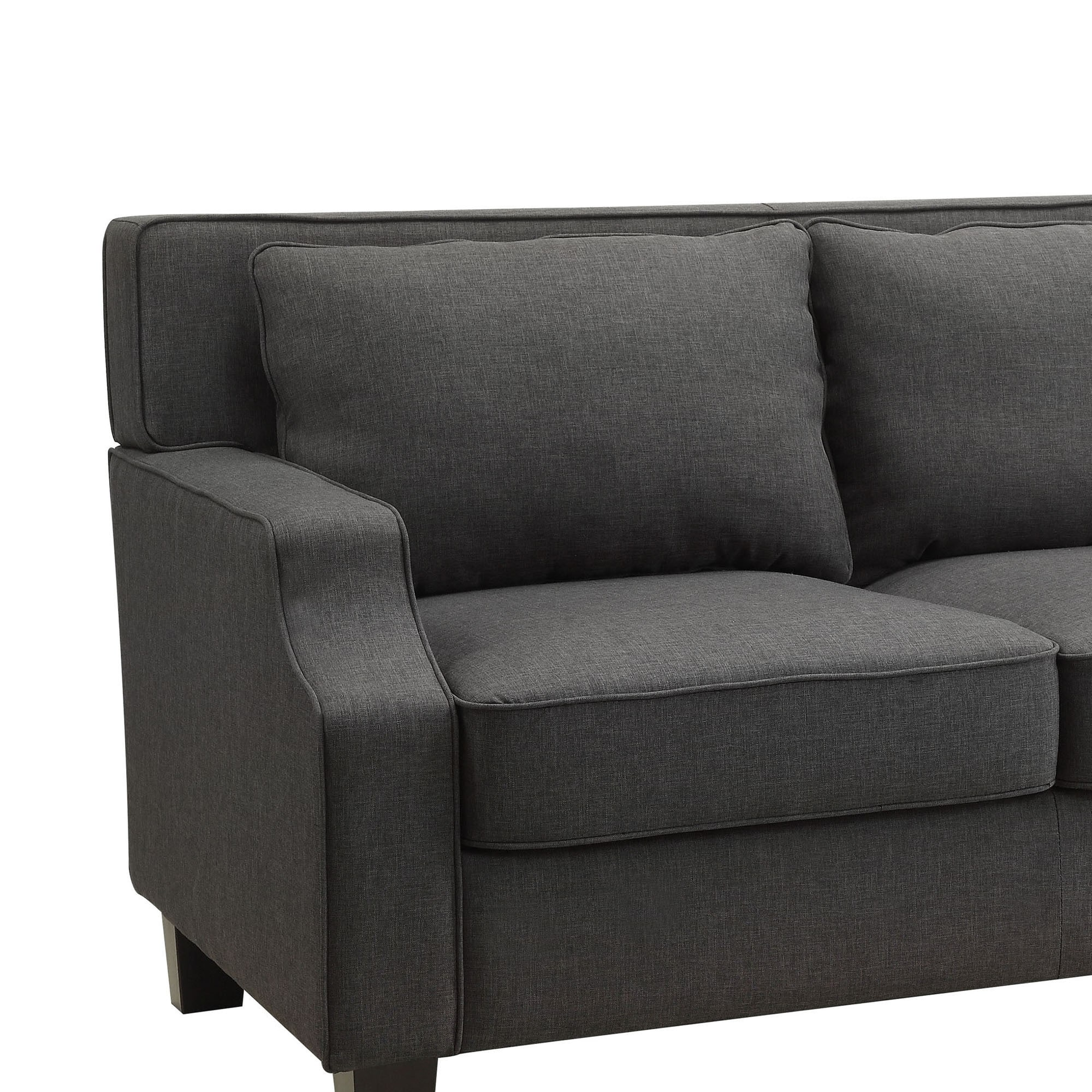 Broadway Dark Grey Fabric Sloped Track Arm Sofa by INSPIRE Q - Free  Shipping Today - Overstock.com - 16076487