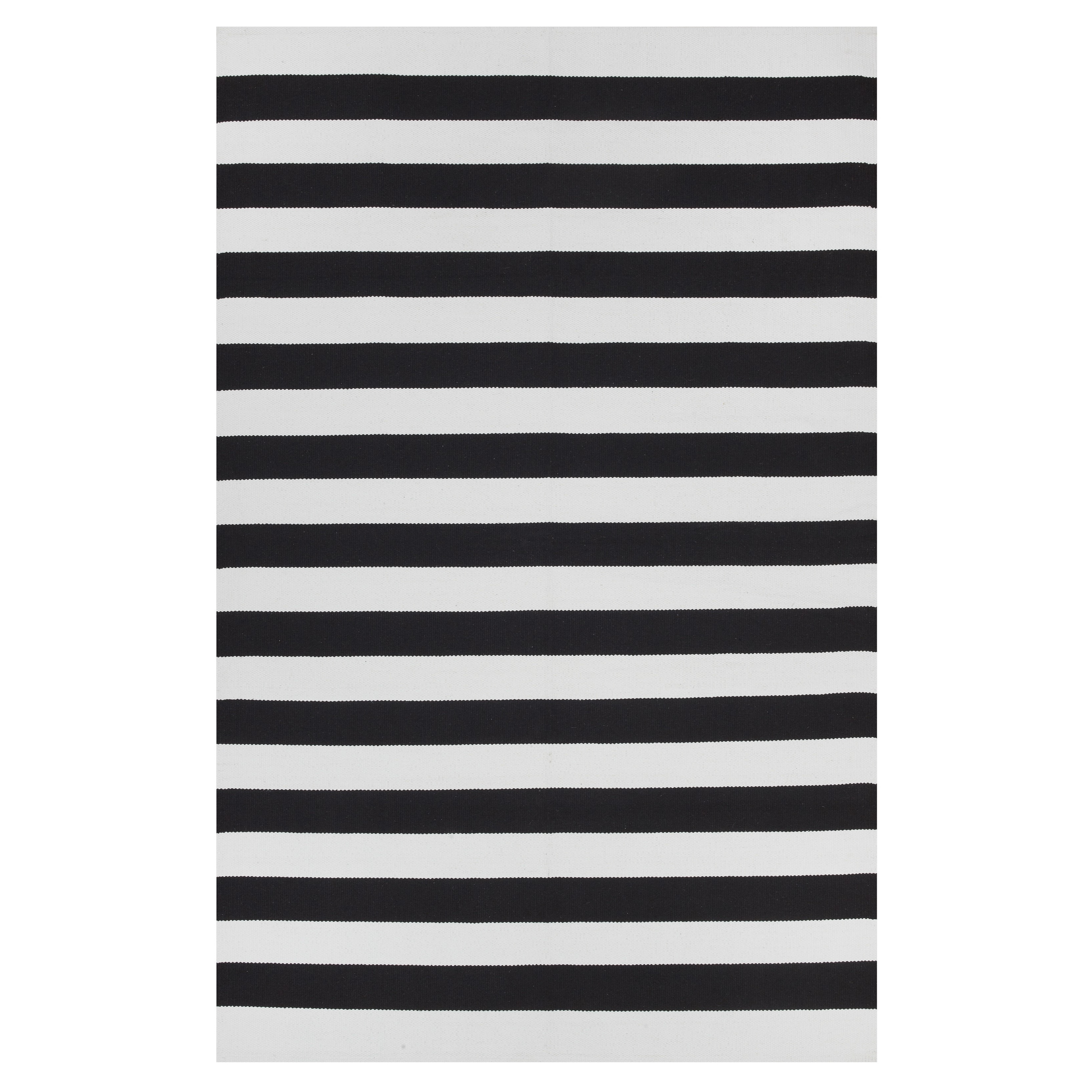 Shop handmade indo nantucket black bright white modern area rug india 4 x 6 on sale free shipping today overstock 8851762