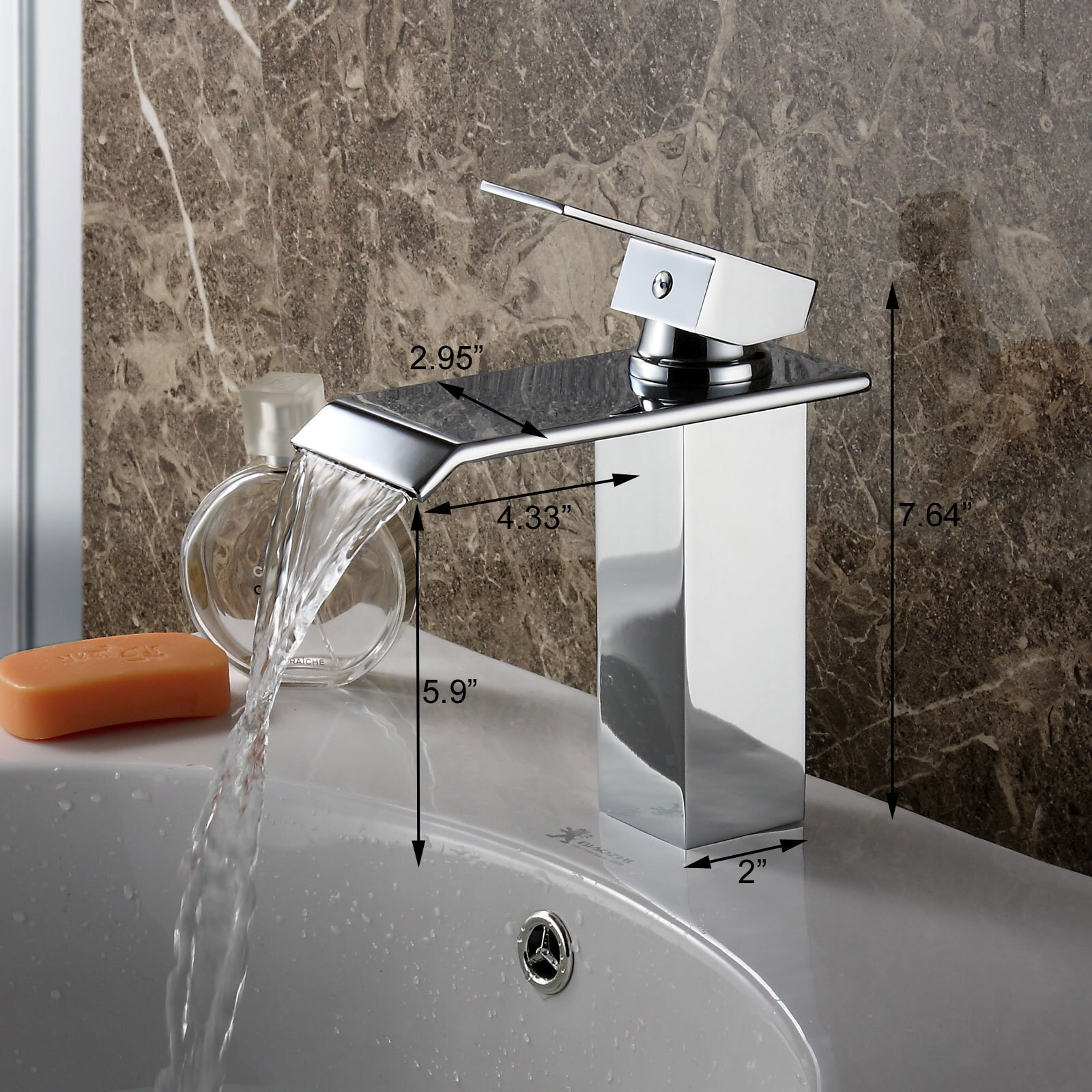 Shop Elite Brass Single Lever Waterfall Bathroom Sink Faucet Free