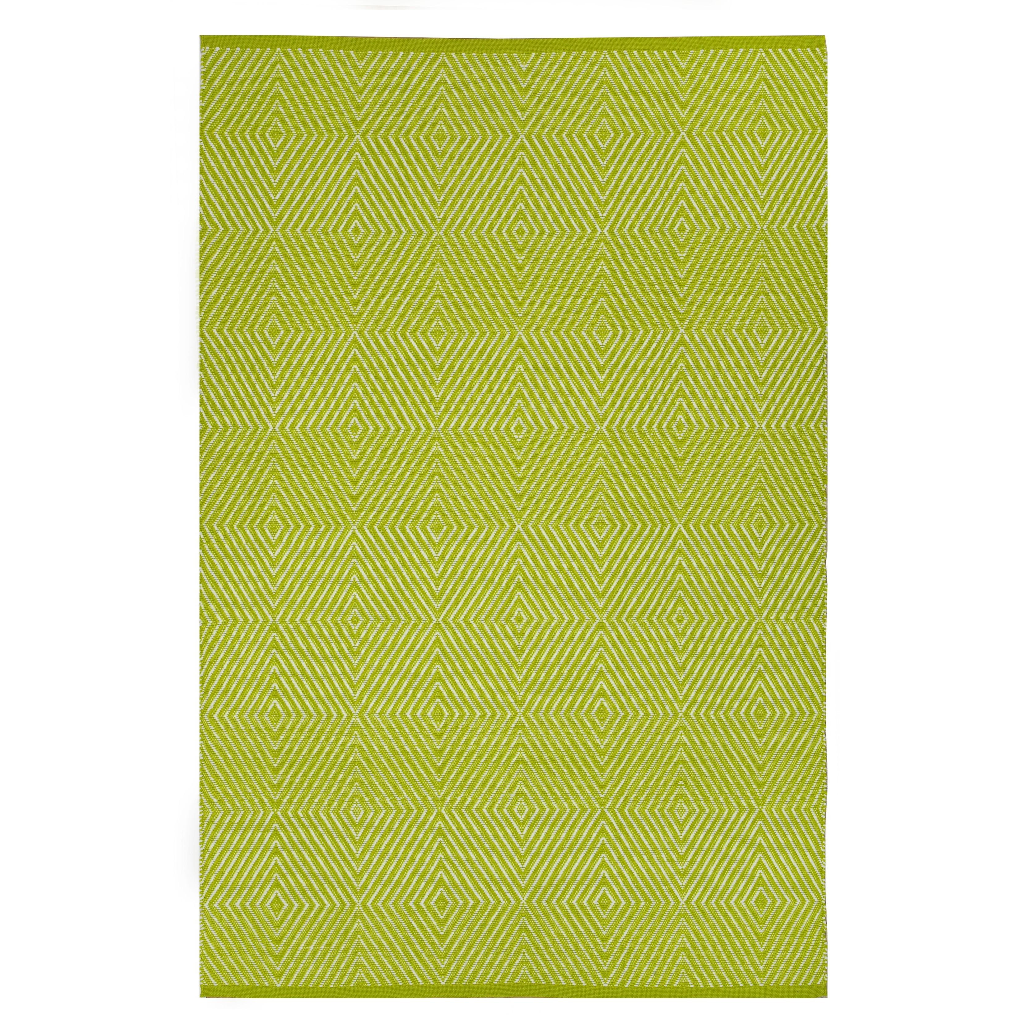 Fab Habitat Indoor/Outdoor Rug Zen Green/ White Contemporary Geometric Area  Rug (3' x 5') - 3' x 5'/Surplus