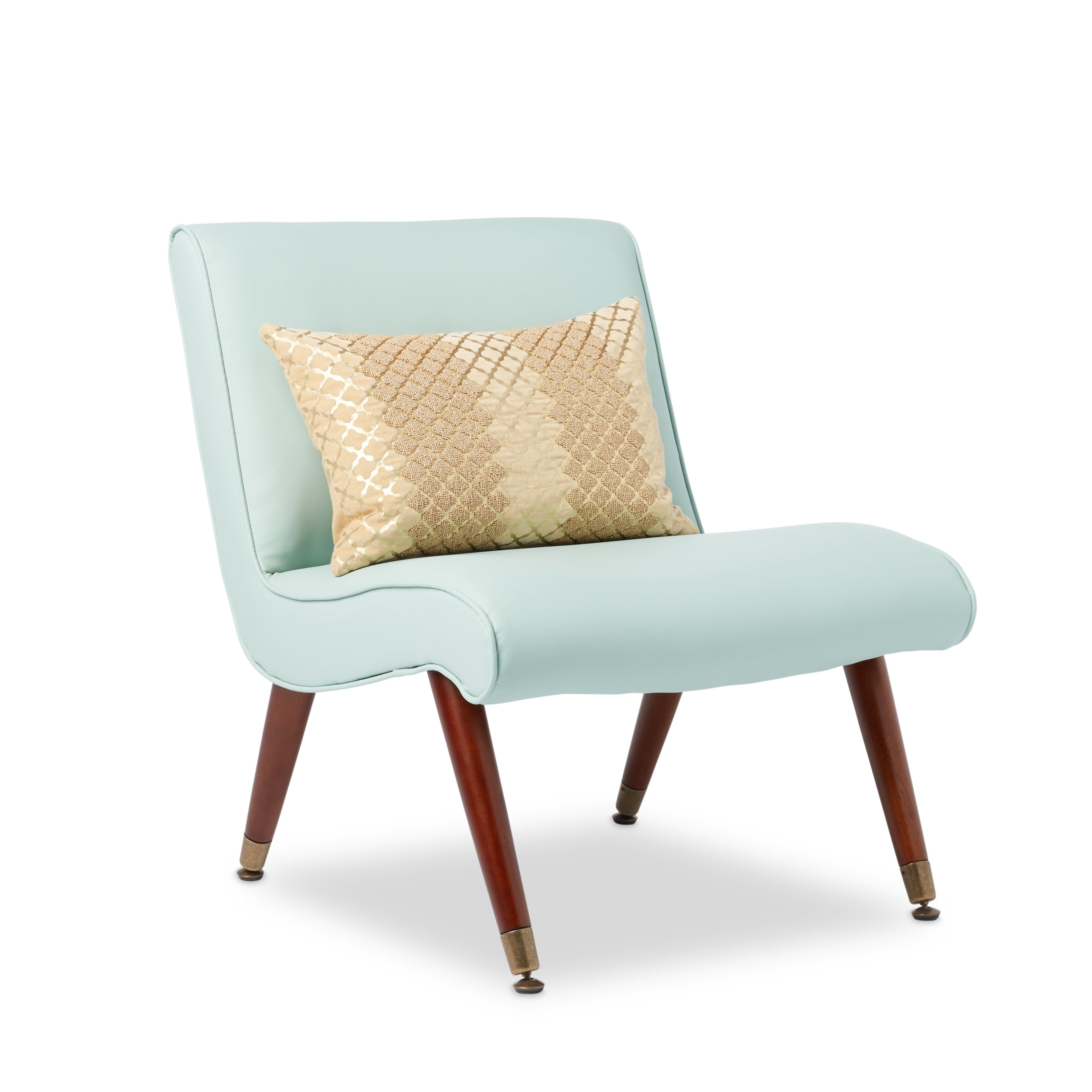 Mid Century Armless Chair  Carson Carrington Mid century Aqua Bonded Armless Chair Free  sc 1 st  Mother Ideas : teal armless chair - Cheerinfomania.Com
