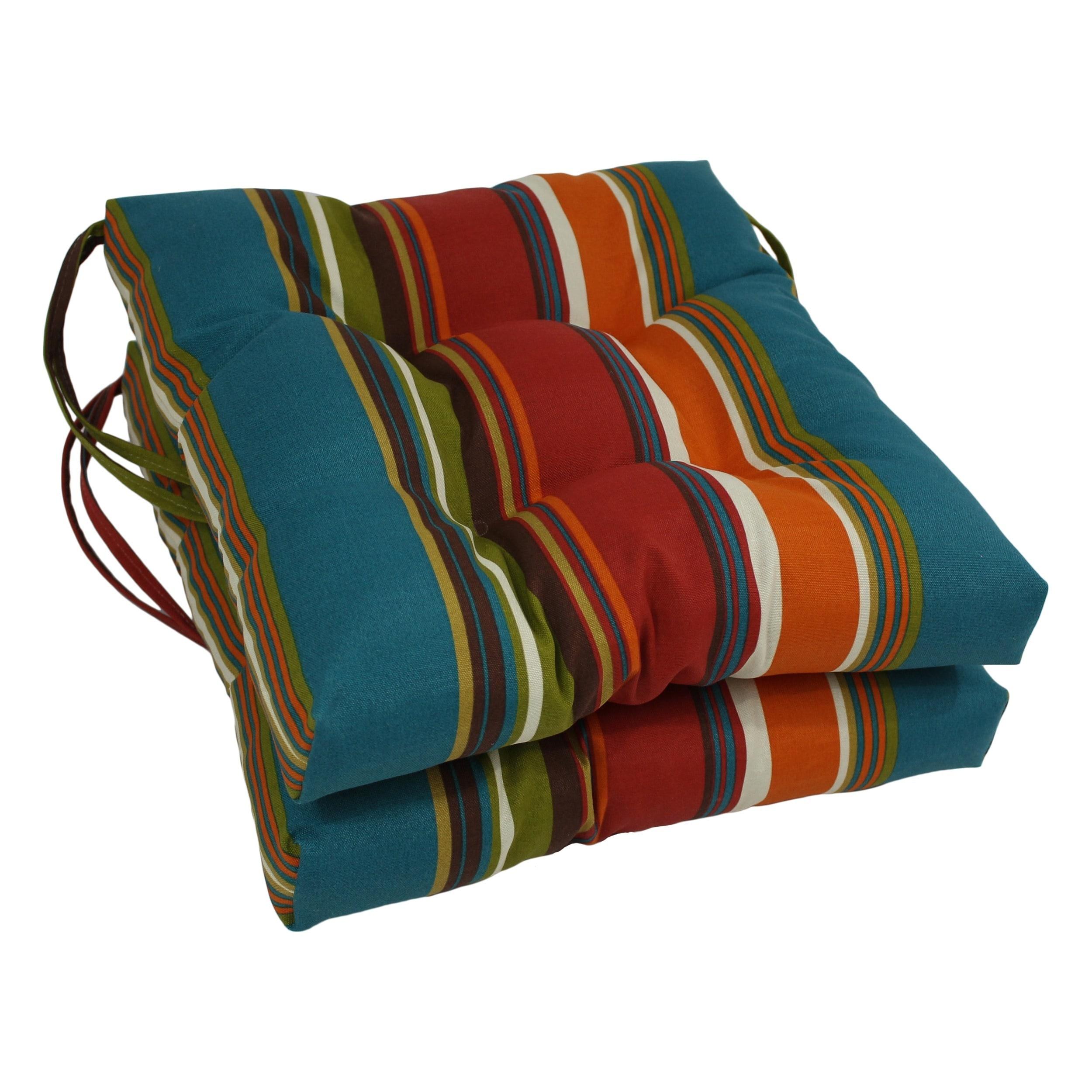 Blazing Needles 16 Inch Indoor Outdoor Chair Cushion Set Of 2 X