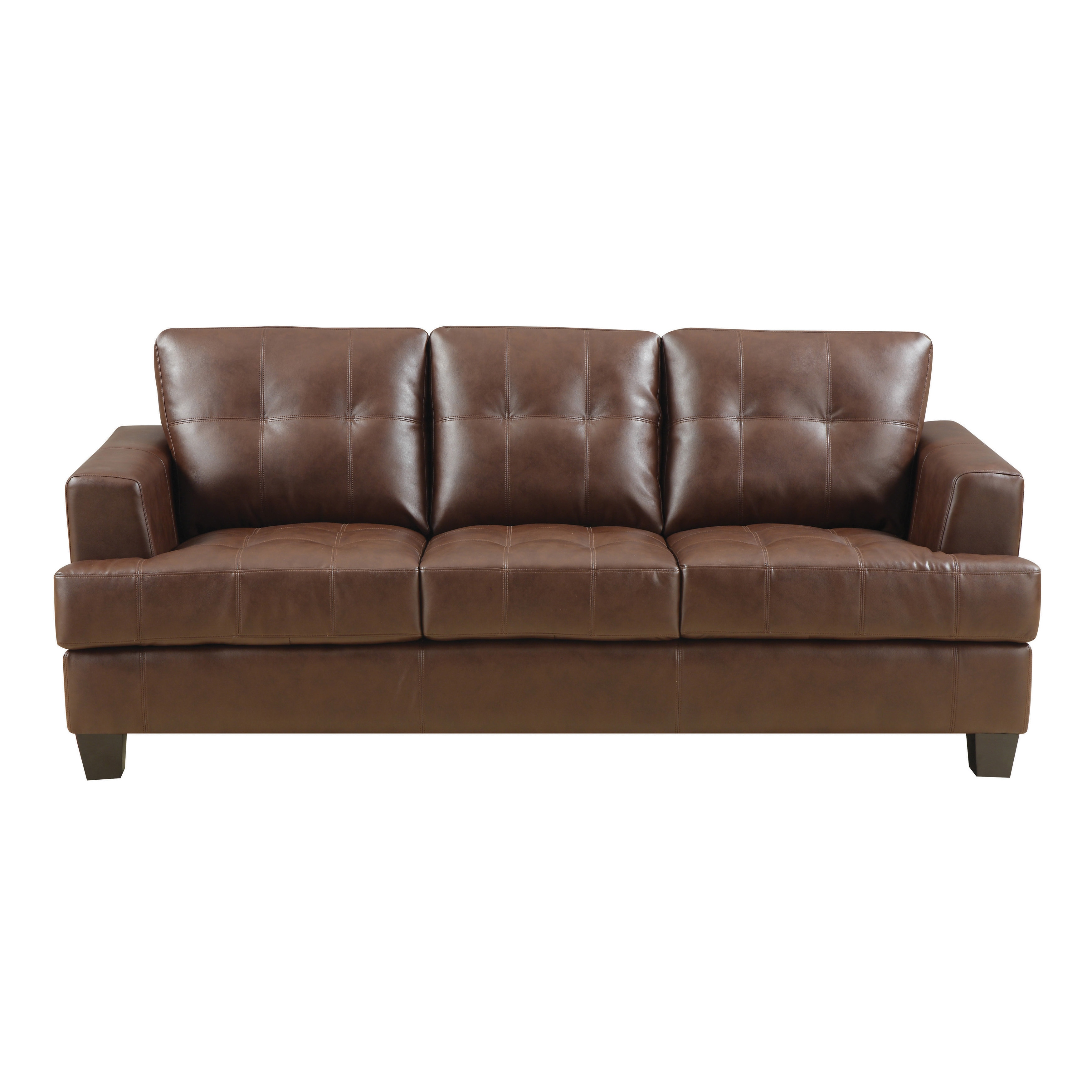 Shop Coaster Company Samuel Contemporary Bonded Leather Sofa - On ...