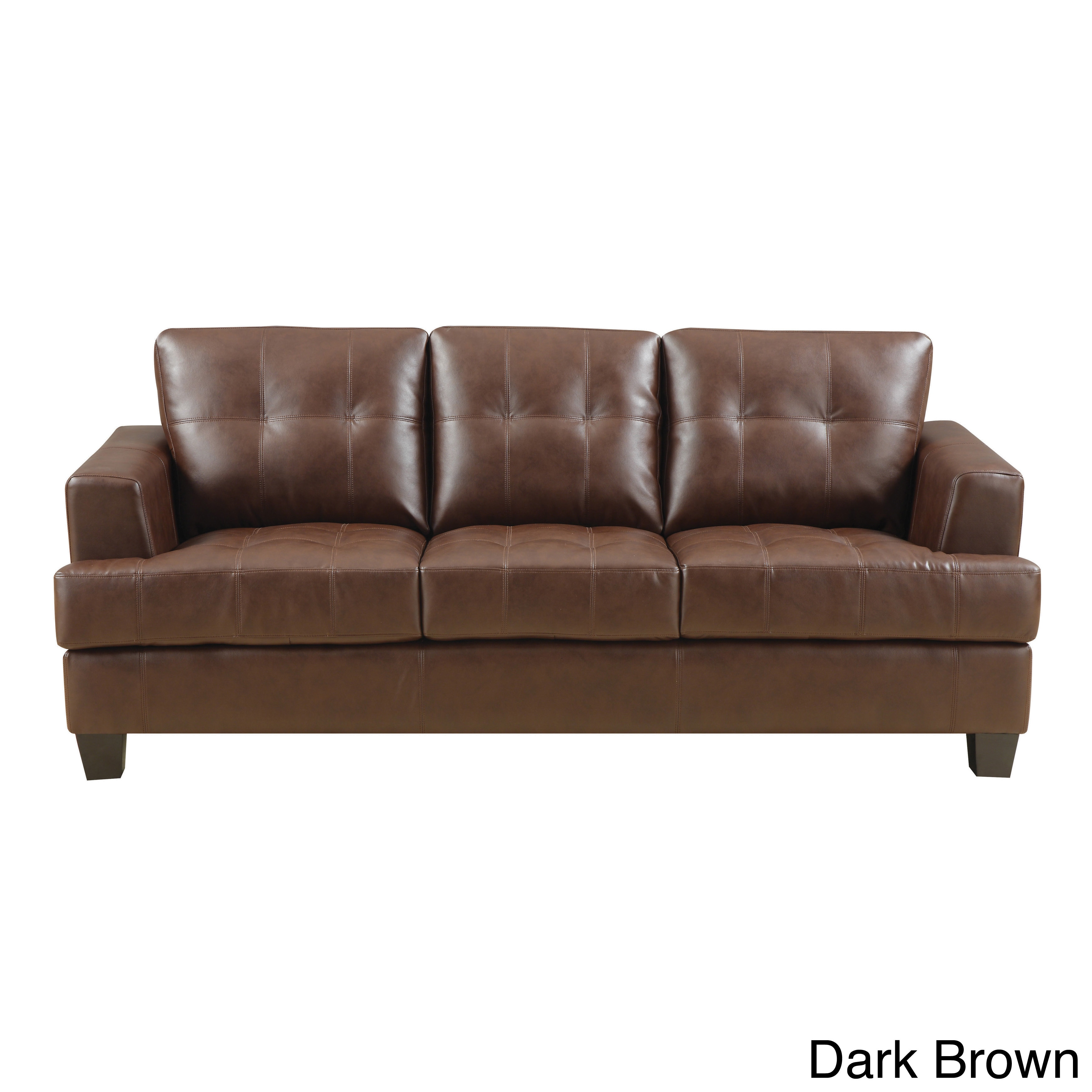 Coaster Company Samuel Contemporary Bonded Leather Sofa   Free Shipping  Today   Overstock   16086752