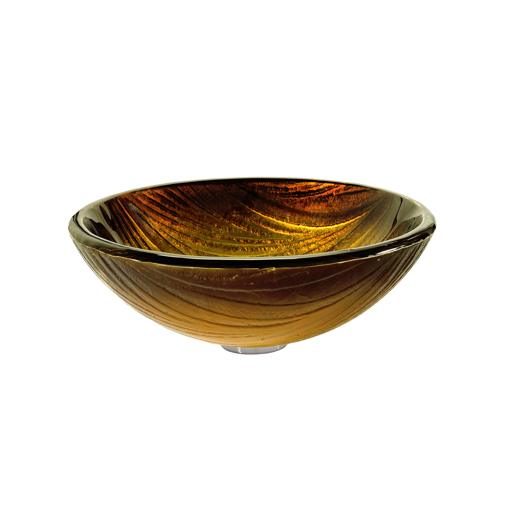 KRAUS Midas Glass Vessel Sink in Gold with Waterfall Faucet - Free ...