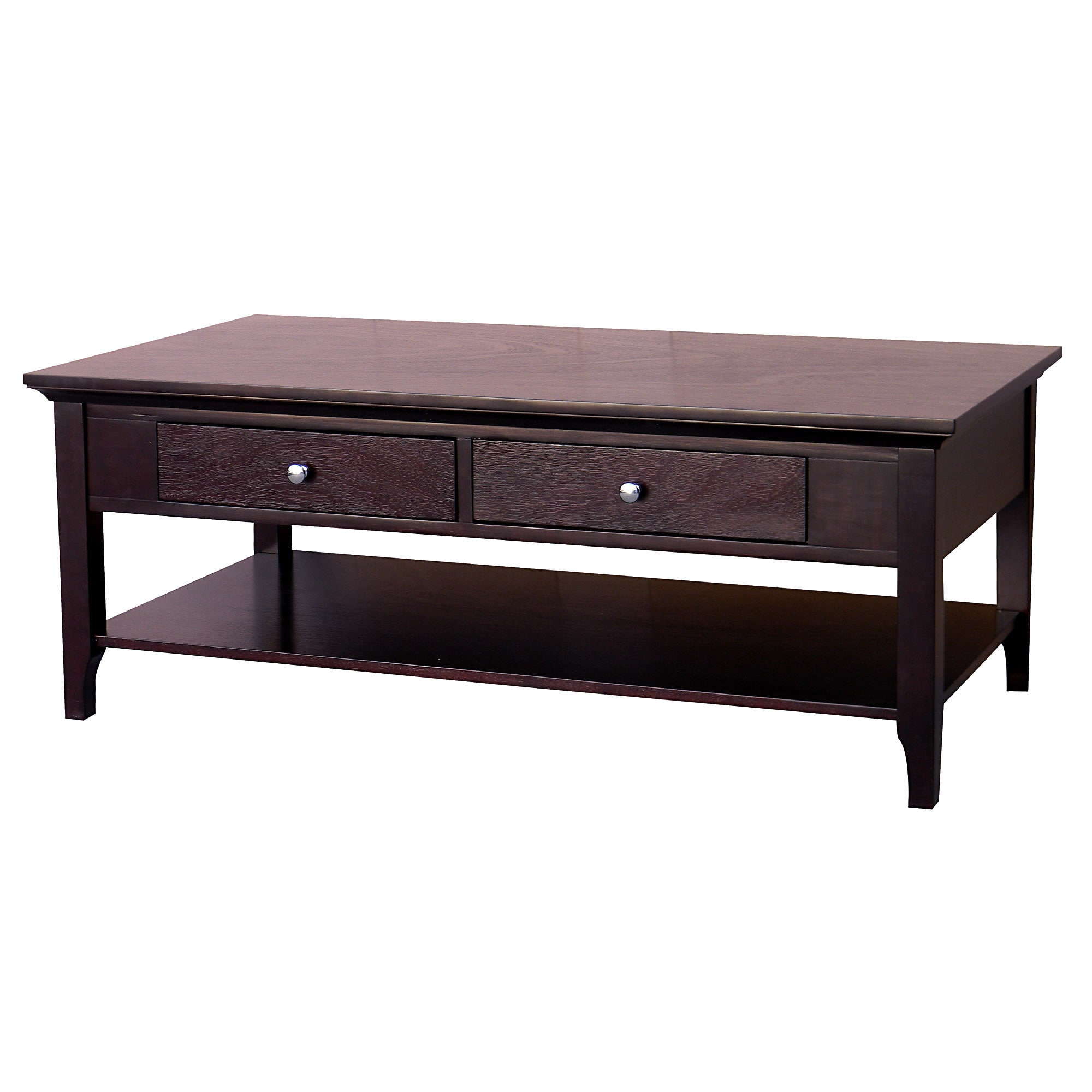 Great Ferndale Two Drawer Espresso Coffee Table   Free Shipping Today   Overstock    16088373