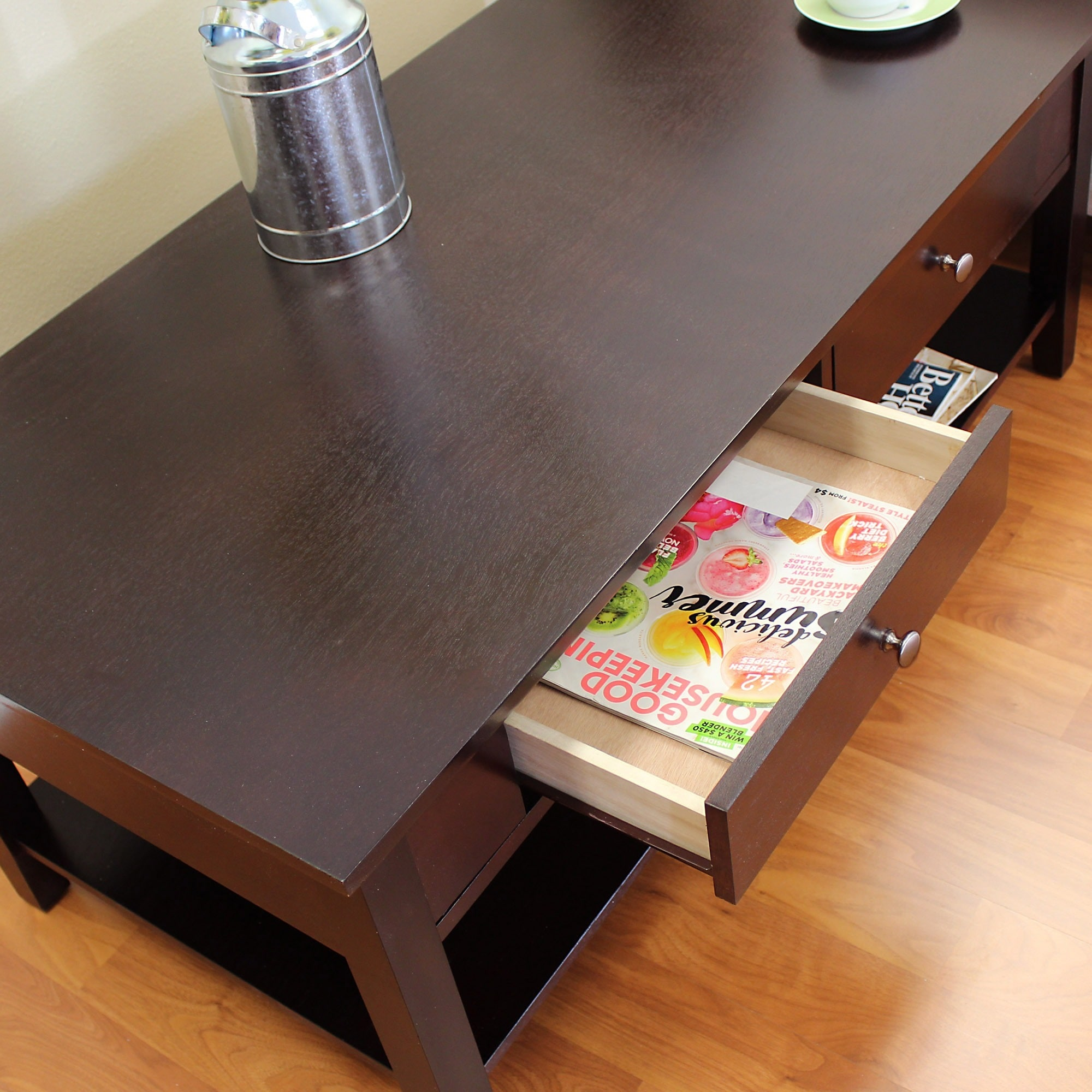 Shop Ferndale Two Drawer Espresso Coffee Table   On Sale   Free Shipping  Today   Overstock.com   8861197