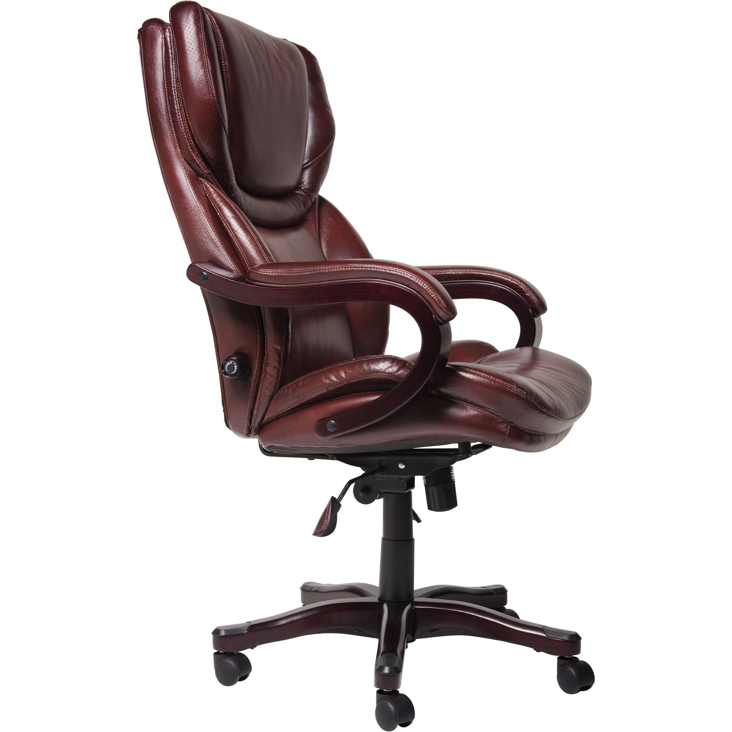 Serta Executive Brown Bonded Leather And Tall Office Chair Free Shipping Today 8861913