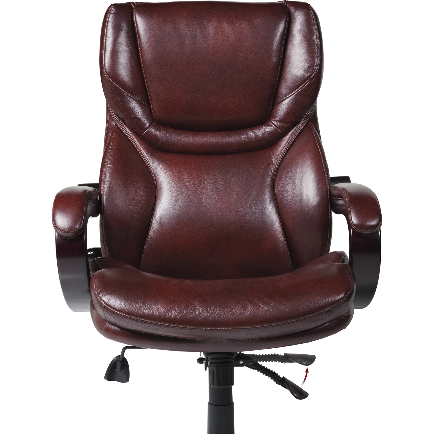 Shop Serta Executive Brown Bonded Leather Big And Tall Office Chair   Free  Shipping Today   Overstock.com   8861913