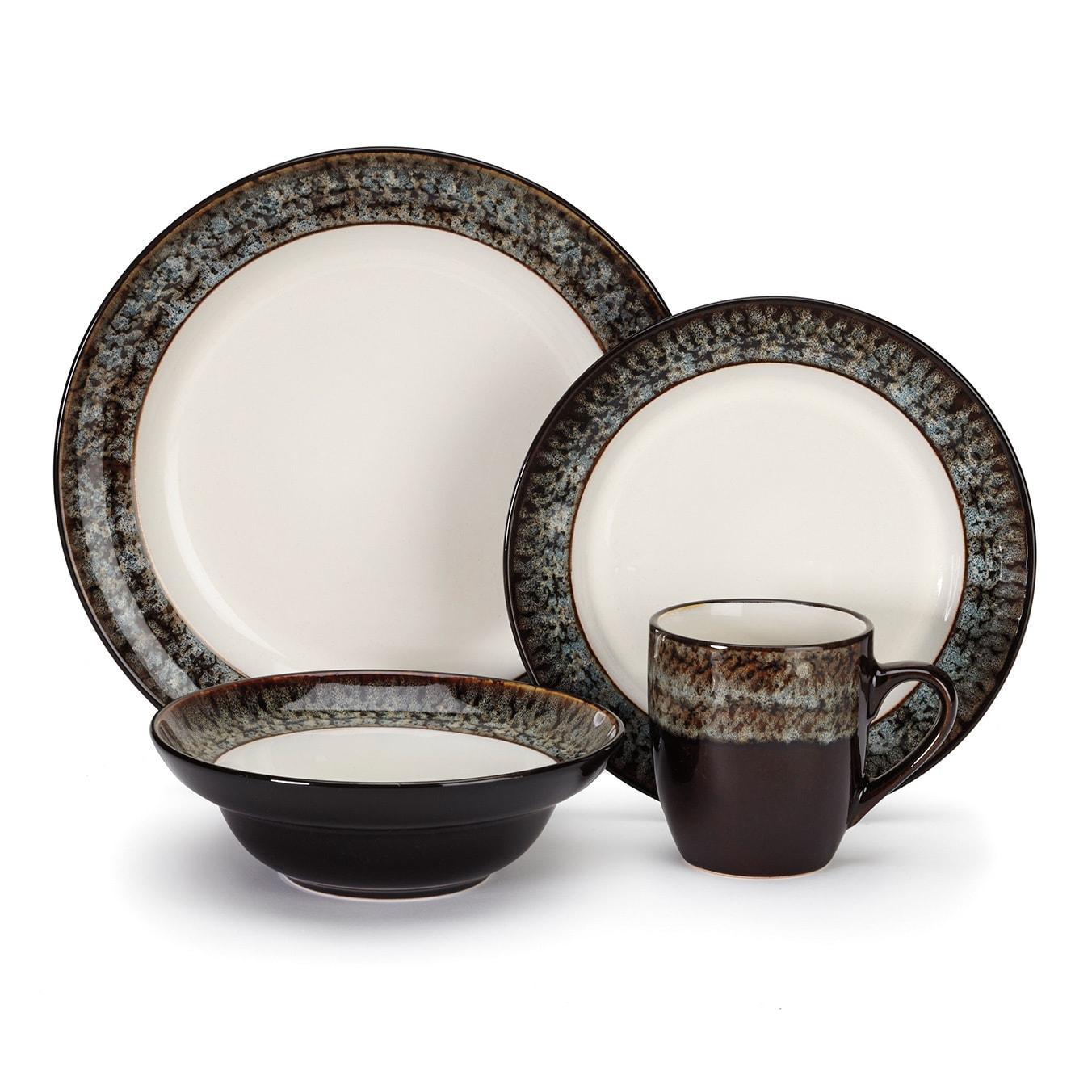 Shop Cuisinart Colette 16-piece Stoneware Dinnerware Set - Free ...