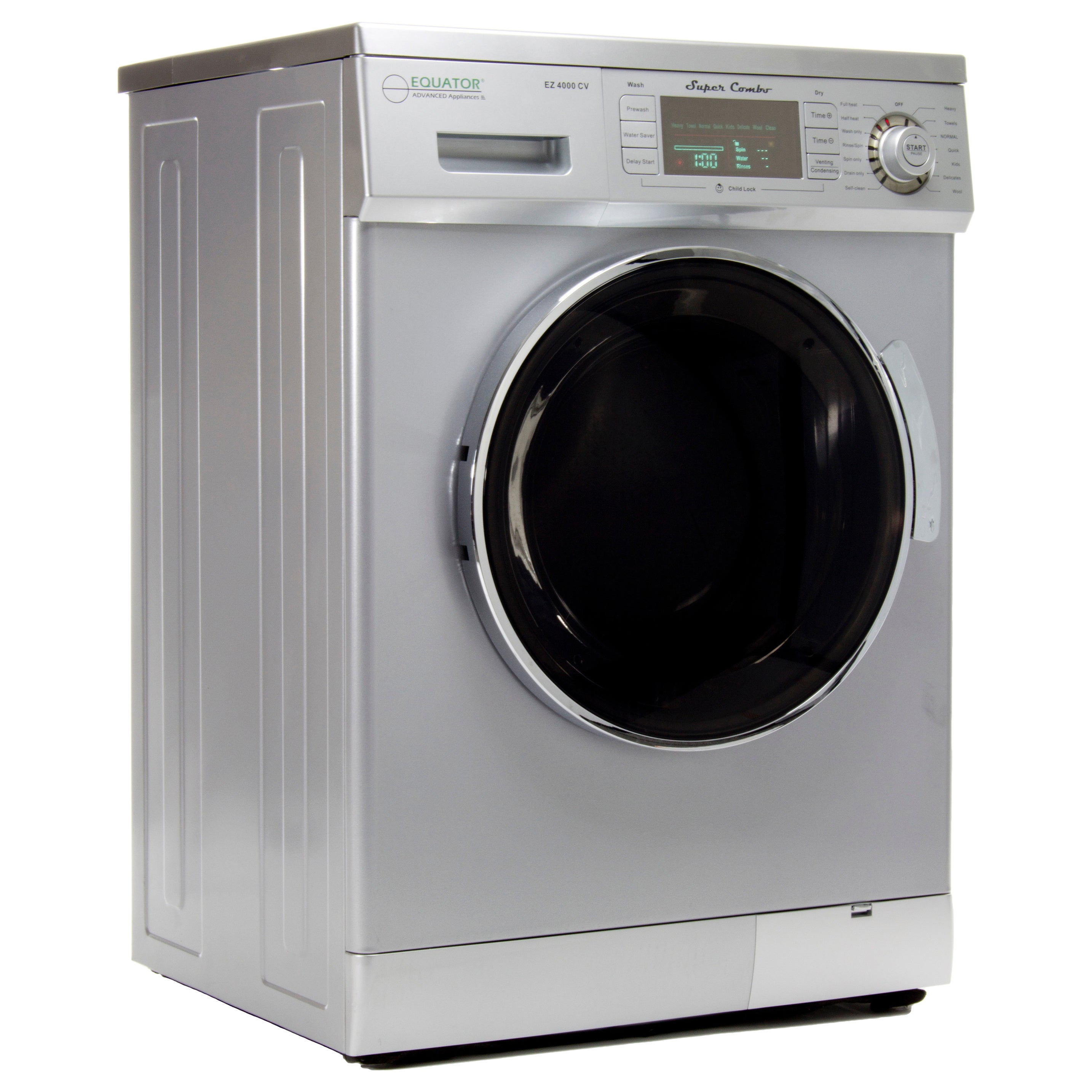 Equator 13 Lb Silver Convertible Combo Washer Dryer With Optional Venting Condensing Drying Free Shipping Today 8865891