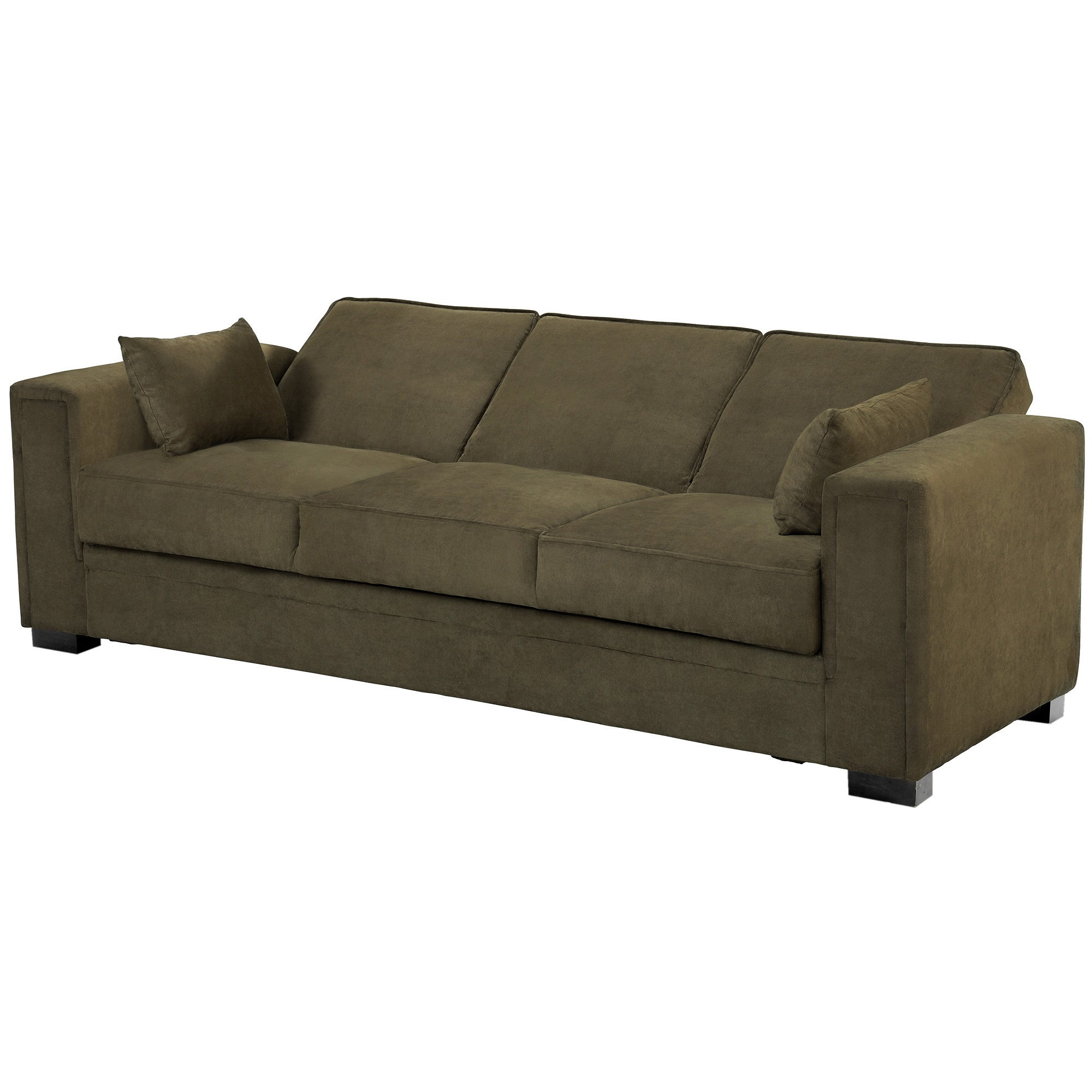 Shop serta sabrina pewter convertible sleeper sofa free shipping today overstock com 8869347