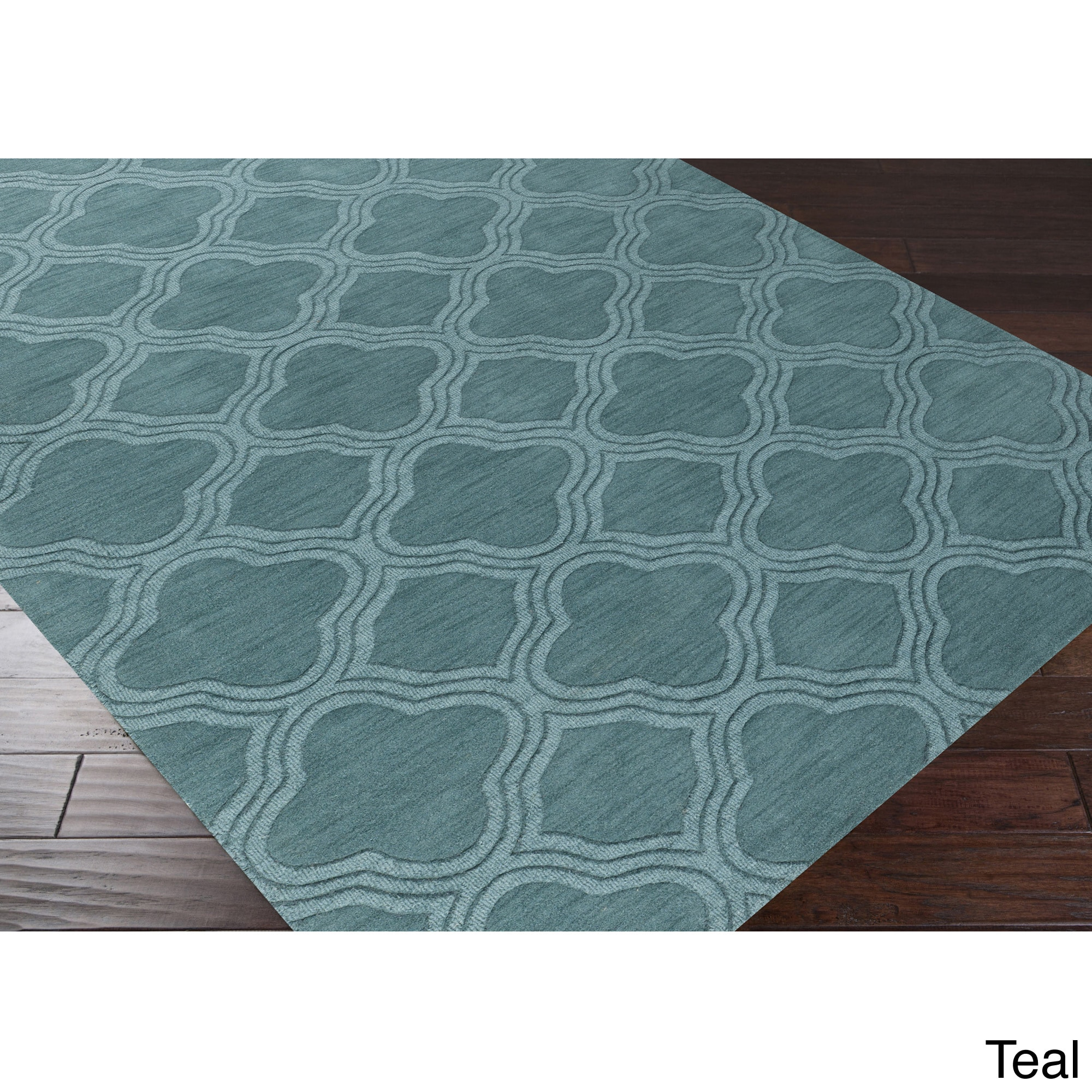 Hand Loomed Rome Casual Solid Tone On Can Trellis Wool Area Rug Free Shipping Today 8869708