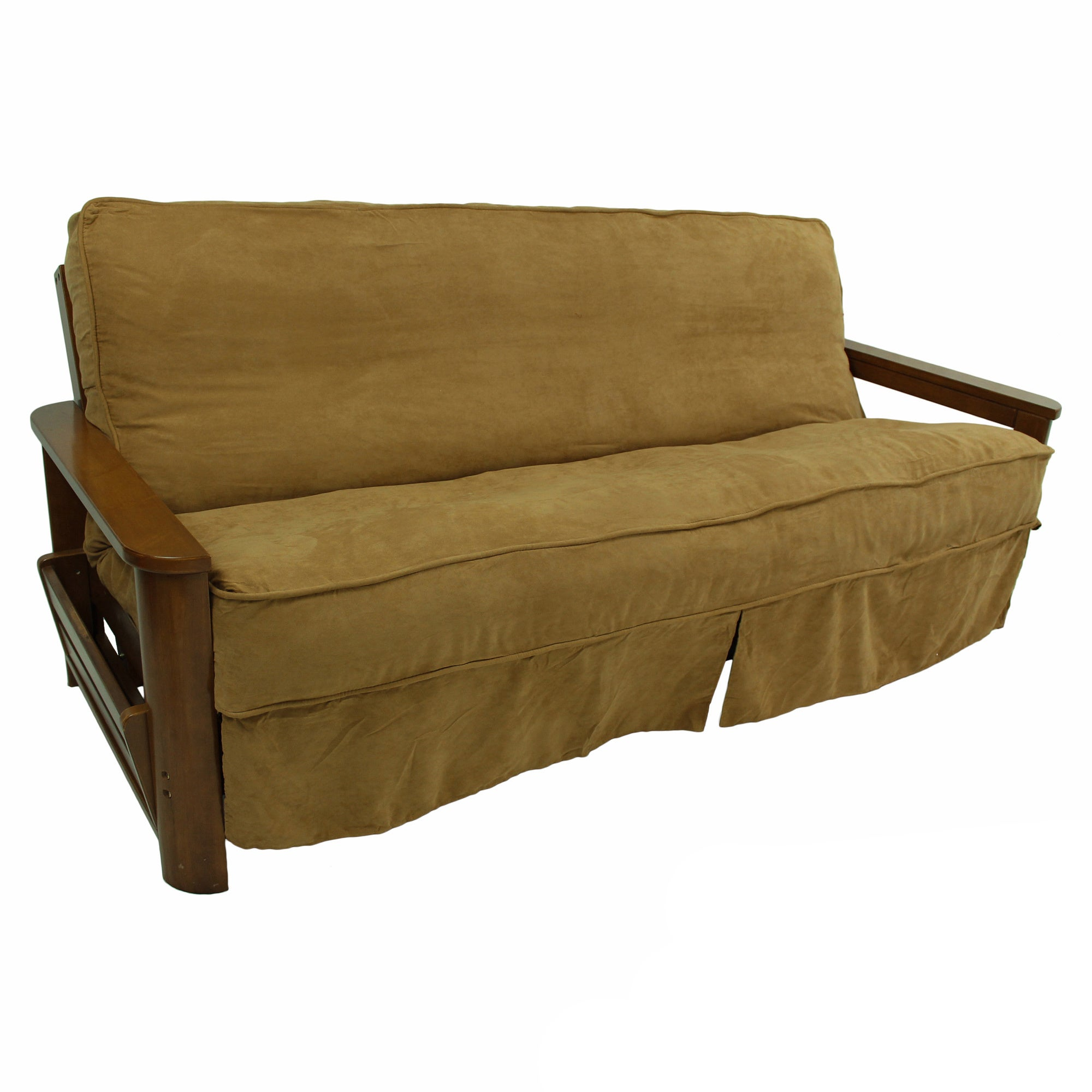 Blazing Needles Premium Microsuede Skirted Futon Slip Cover 55 X 75 On Free Shipping Orders Over 45 Com 8869766