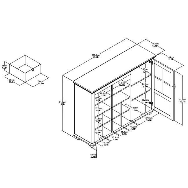 Shop Ameriwood Home Reese Park 4 Bin Storage Cabinet