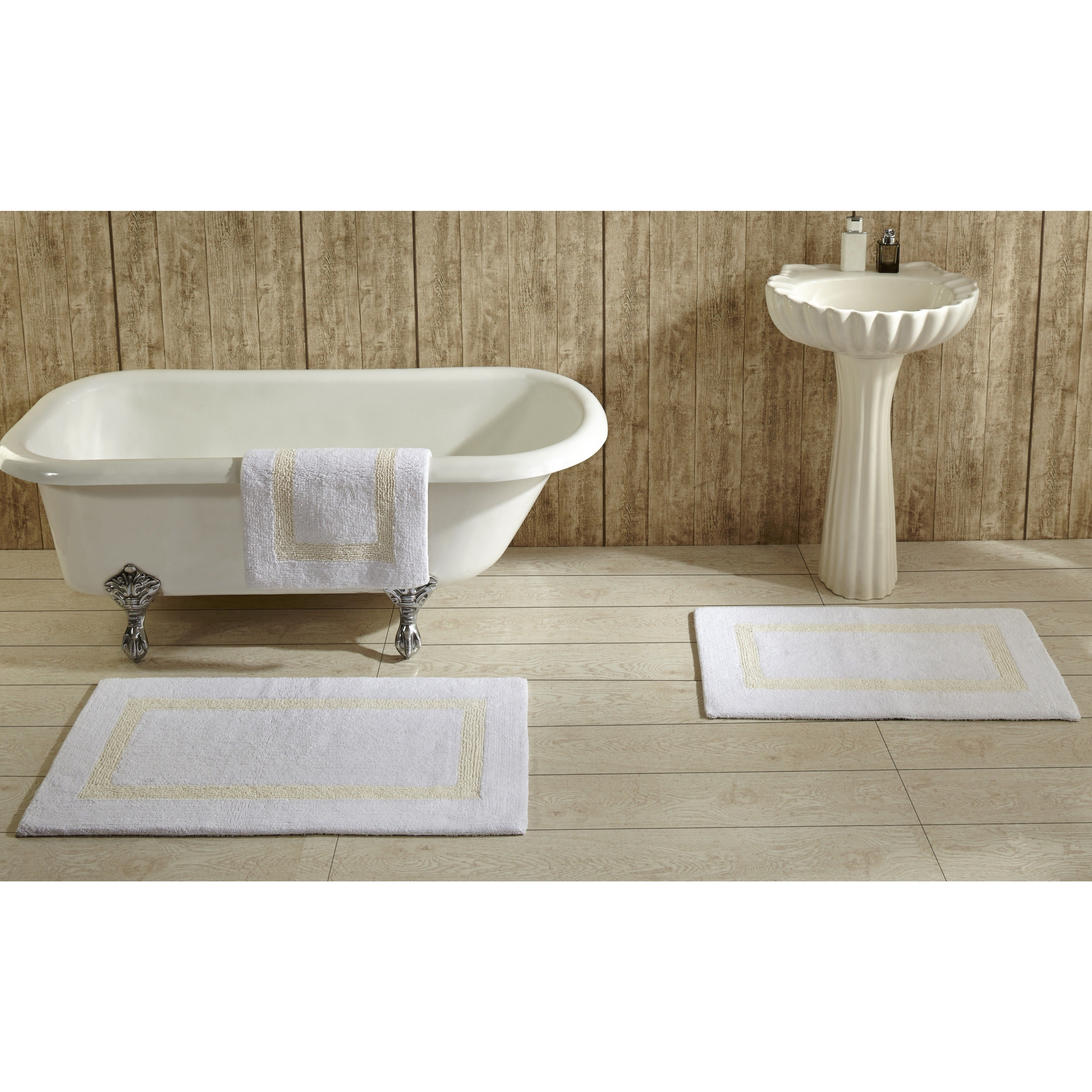 Hotel Collection Cotton Reversible Luxury Bath Rug By Better Trends On Free Shipping Orders Over 45 8873491