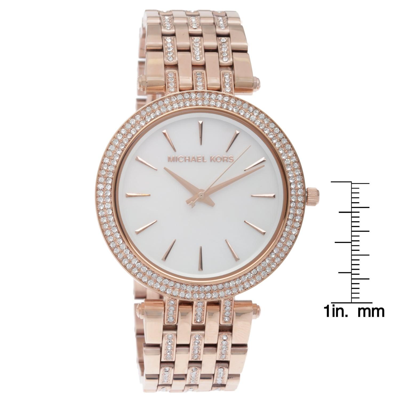 7304877ca223 Shop Michael Kors Women s MK3220  Darci Glitz  Rose Goldtone Watch - Free  Shipping Today - Overstock - 8873982