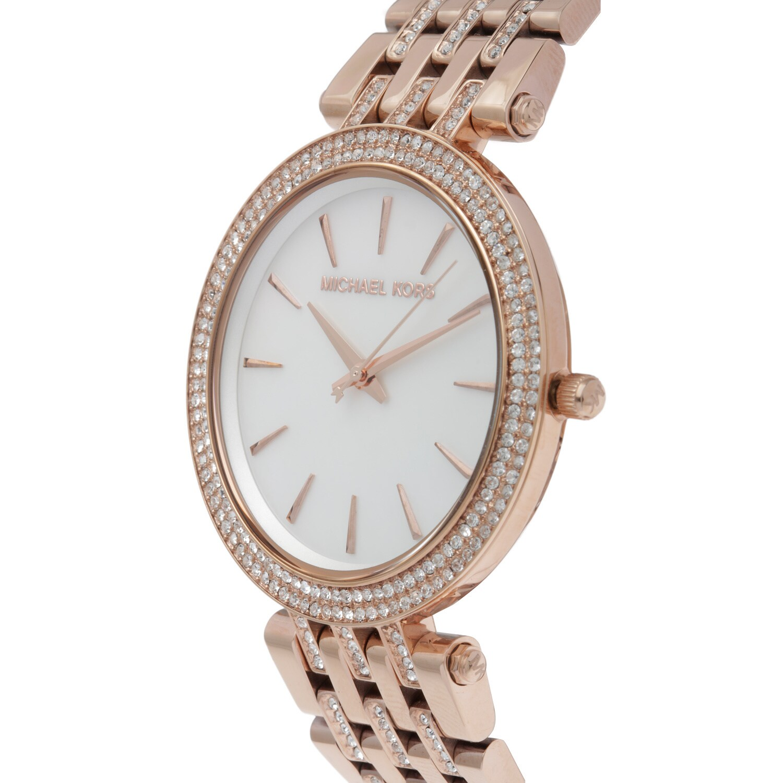 8d40310ed34f Shop Michael Kors Women s MK3220  Darci Glitz  Rose Goldtone Watch ...