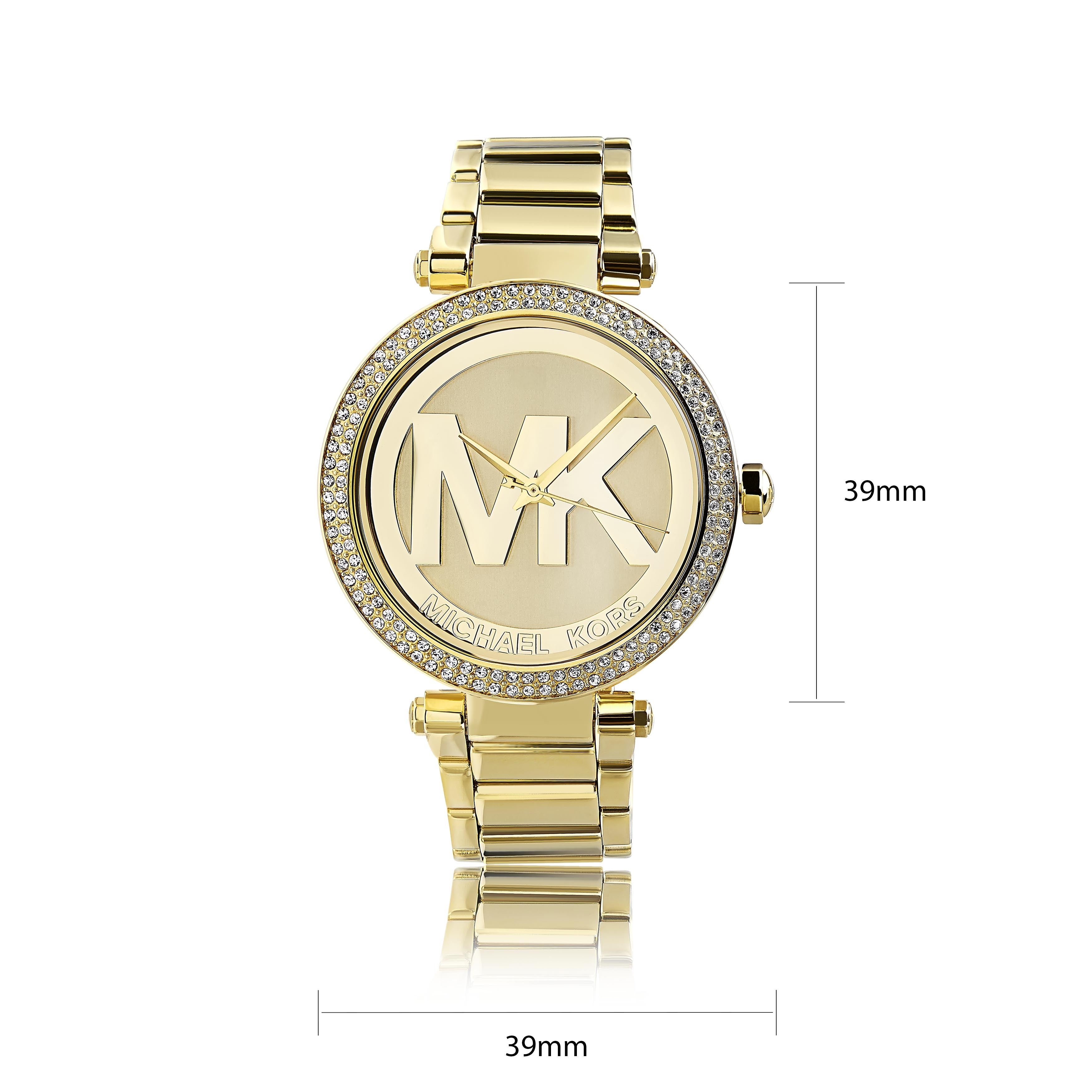 f5bd8f134357 Shop Michael Kors Women s MK5784  Parker  Goldtone Crystal Accent Watch -  Gold - Free Shipping Today - Overstock - 8874280