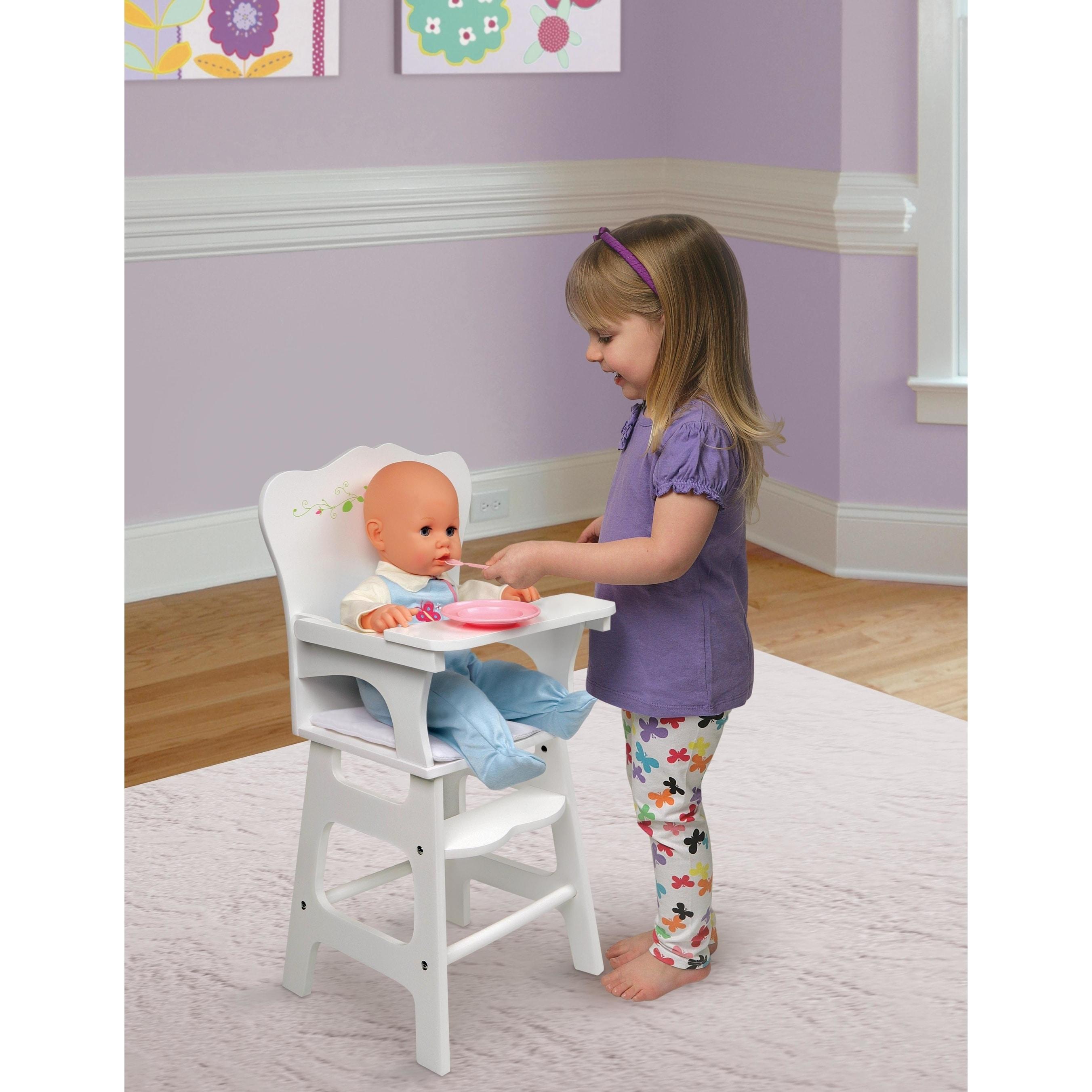 Elegant Shop Badger Basket Doll High Chair   White Rose   Free Shipping On Orders  Over $45   Overstock.com   8874504