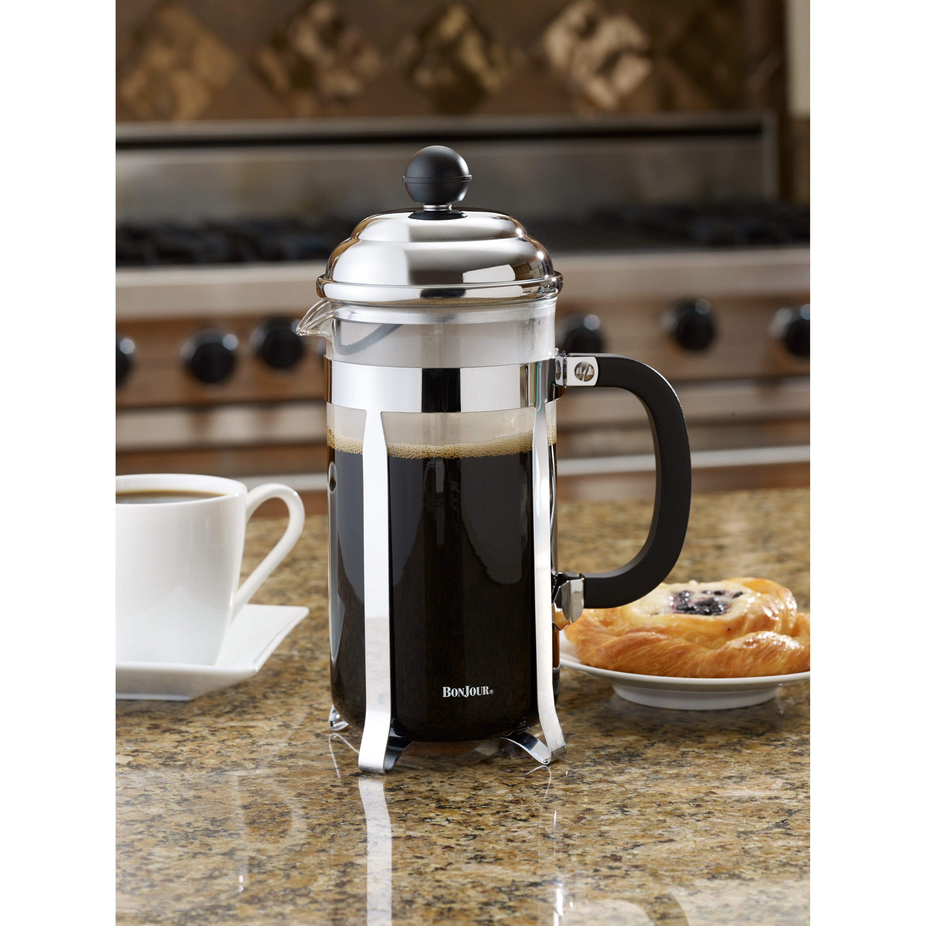 Bonjour Coffee 8 Cup Black Bijoux French Press Free Shipping On Orders Over 45 8874580