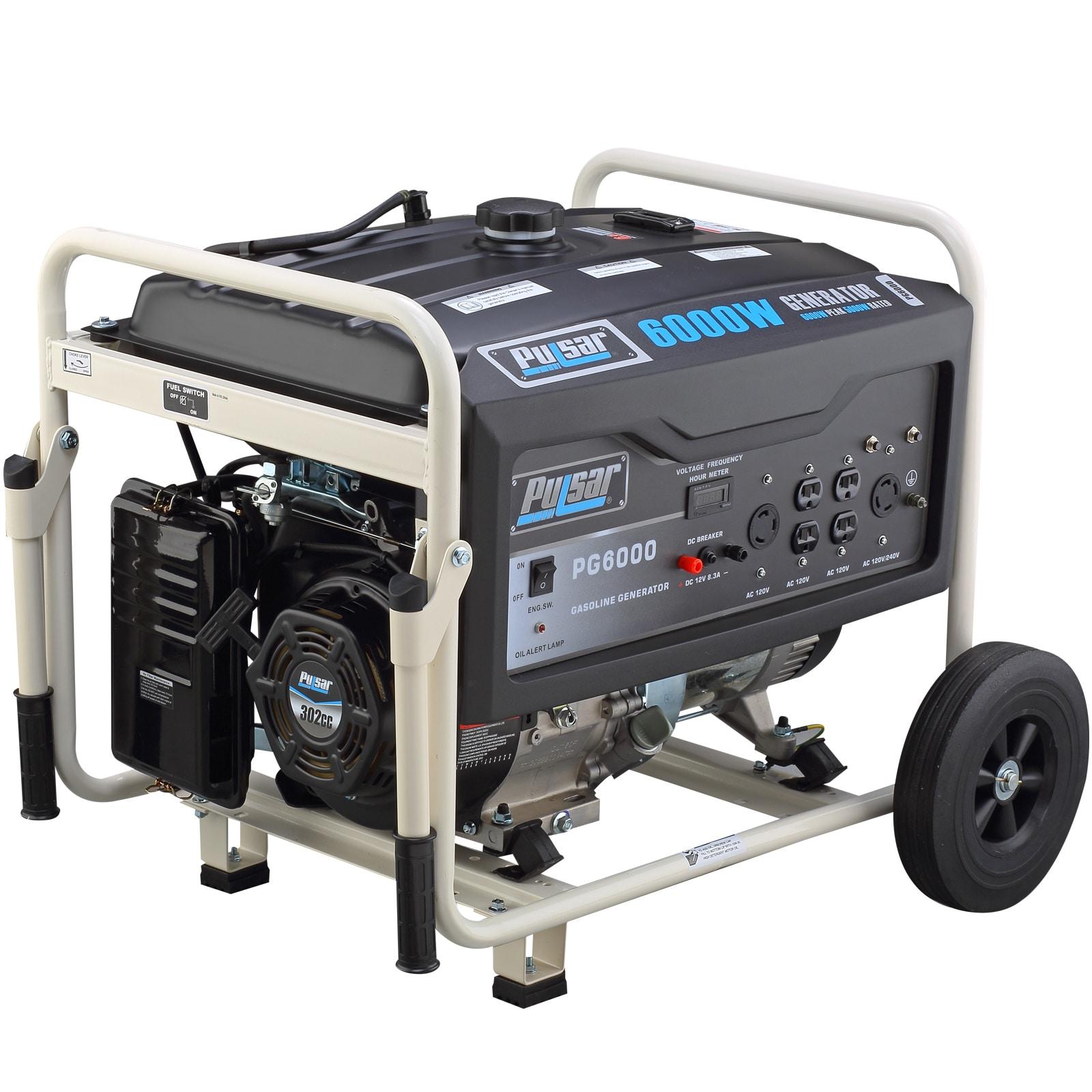 Pulsar Products 6 000 watt Gasoline Powered Portable Generator