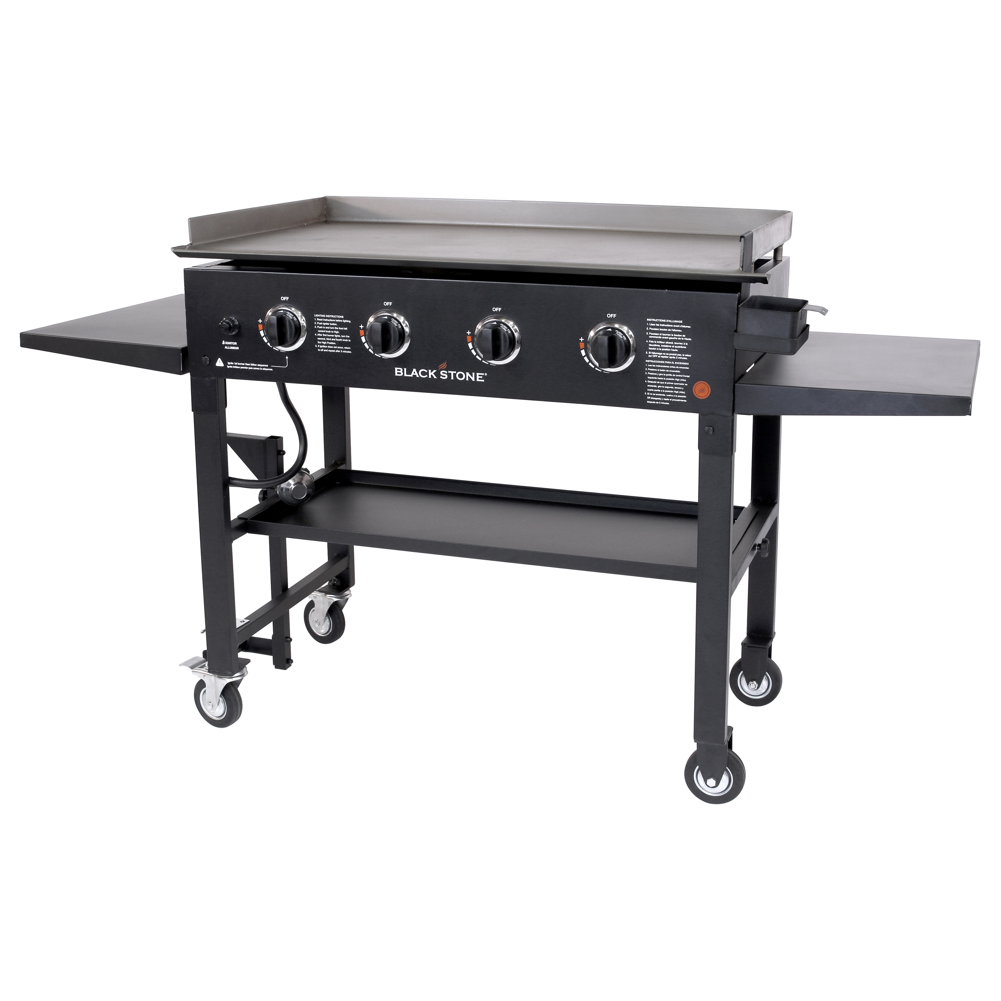 Blackstone Black Steel Restaurant-grade Propane Gas Flat 4-burner ...