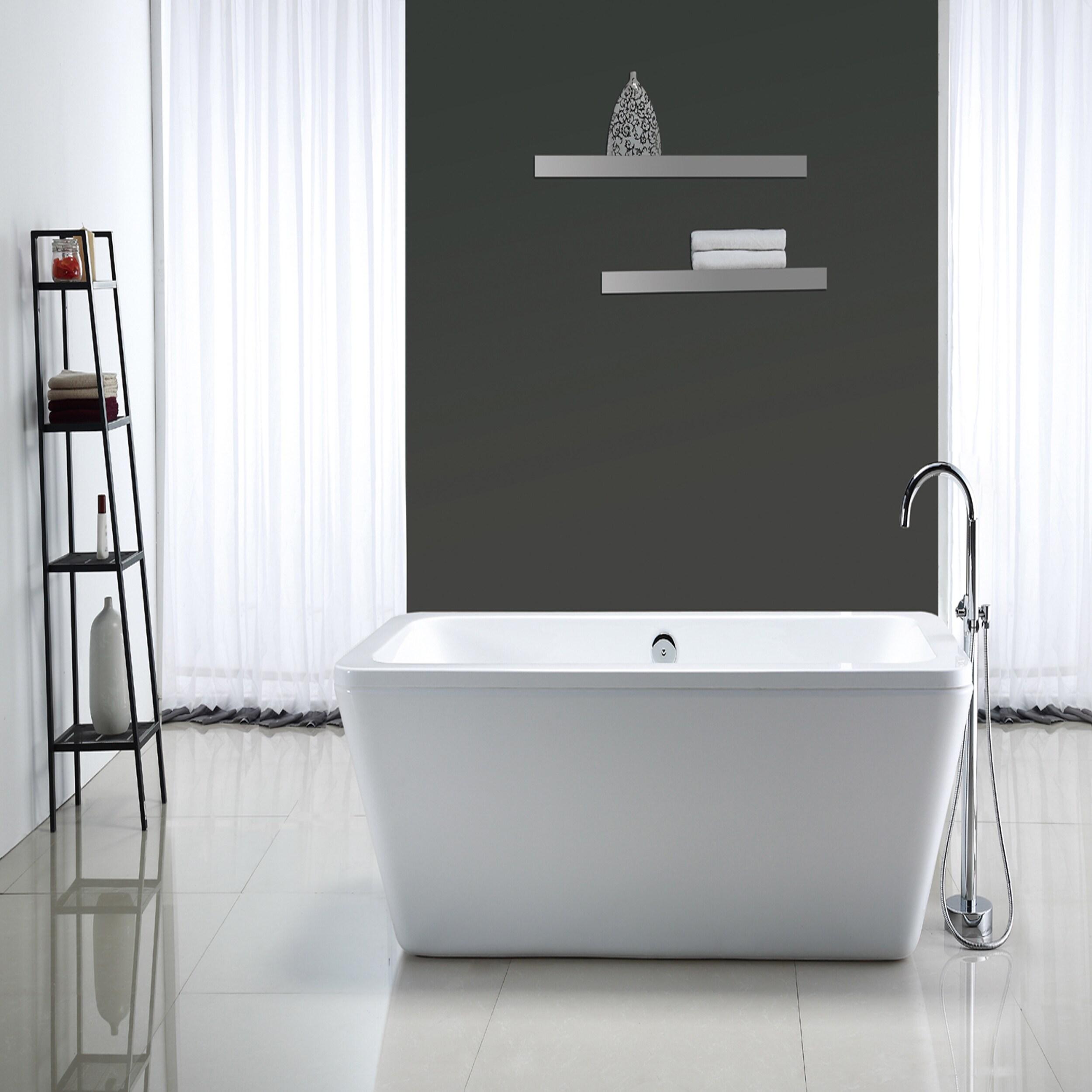 Shop OVE Decors Kido Acrylic 69-inch Freestanding Bath Tub - Free ...