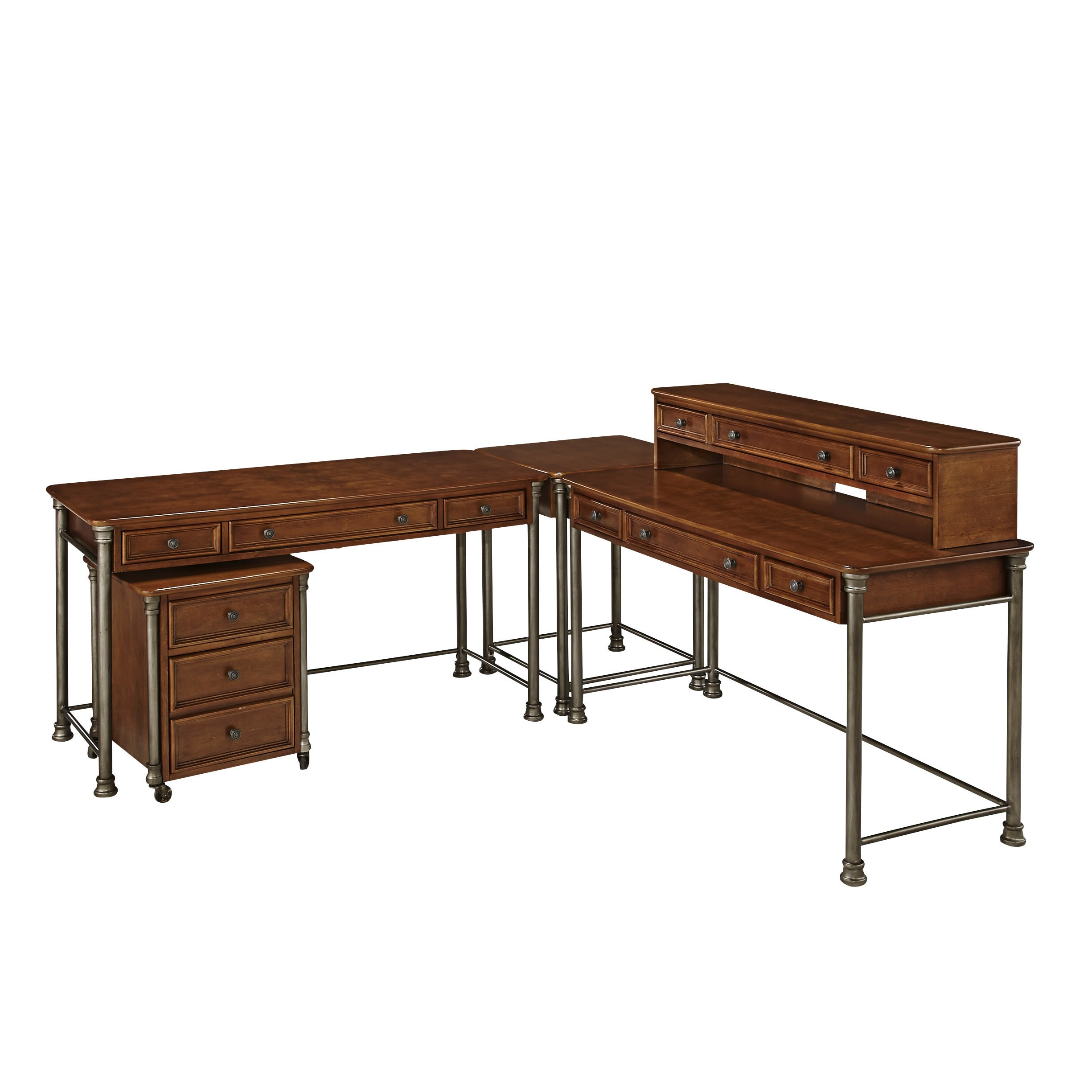 The Orleans Corner L Desk And Mobile File By Home