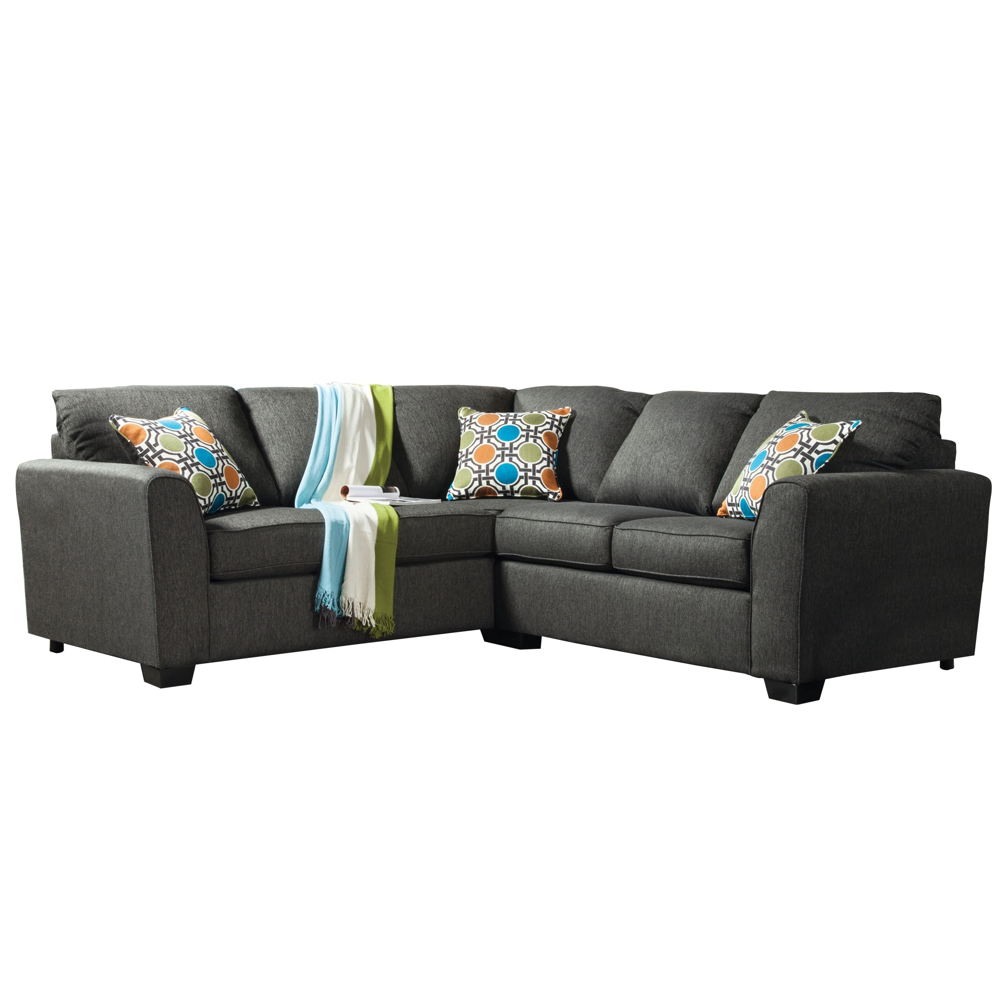 Furniture Of America Playan Grey Tweed Sectional Sofa