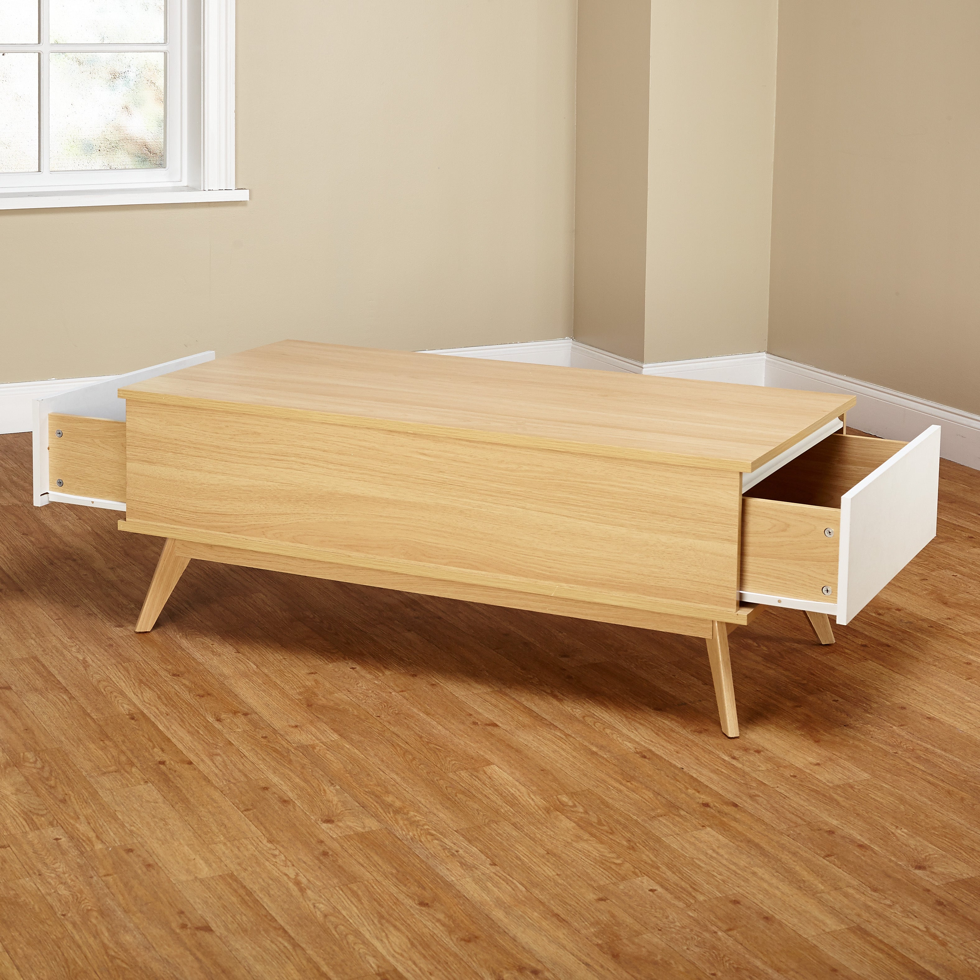 Simple Living Selena Two Drawer Coffee Table   Free Shipping On Orders Over  $45   Overstock   16101093