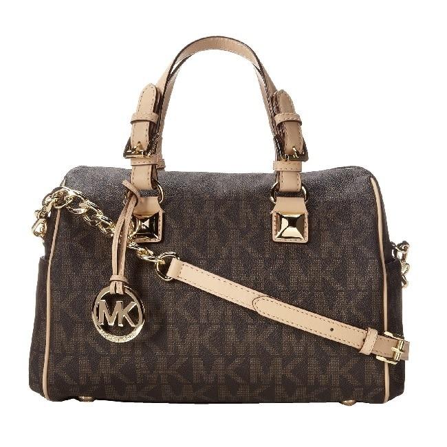 37e719ab5bce6 ... france shop michael kors grayson signature medium chain logo satchel  handbag free shipping today overstock 8880220
