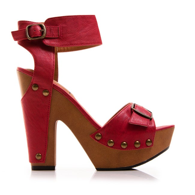 17383fac45a Shop Gomax Women s  Jacqueline 19  Studded Ankle Wrap Platform Sandals -  Free Shipping On Orders Over  45 - Overstock - 8880382