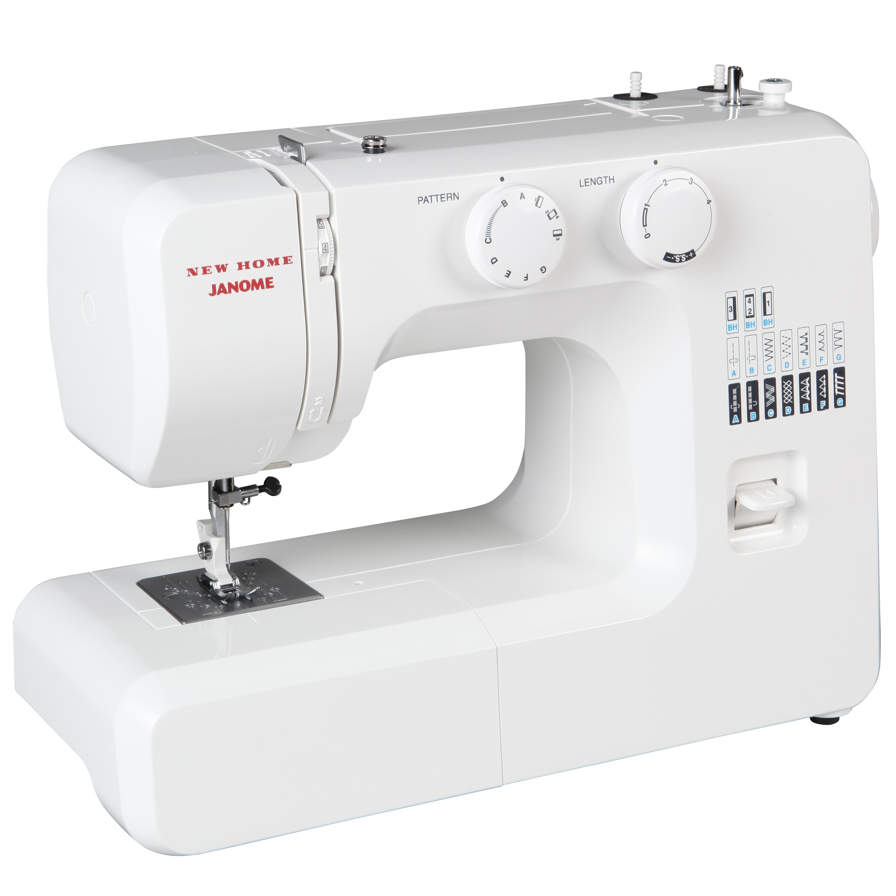Shop Janome 41012 Easy-To-Use Sewing Machine with Aluminum Interior Frame,  Automatic Needle Threader, and Easy Stitch Selection - Free Shipping Today  ...